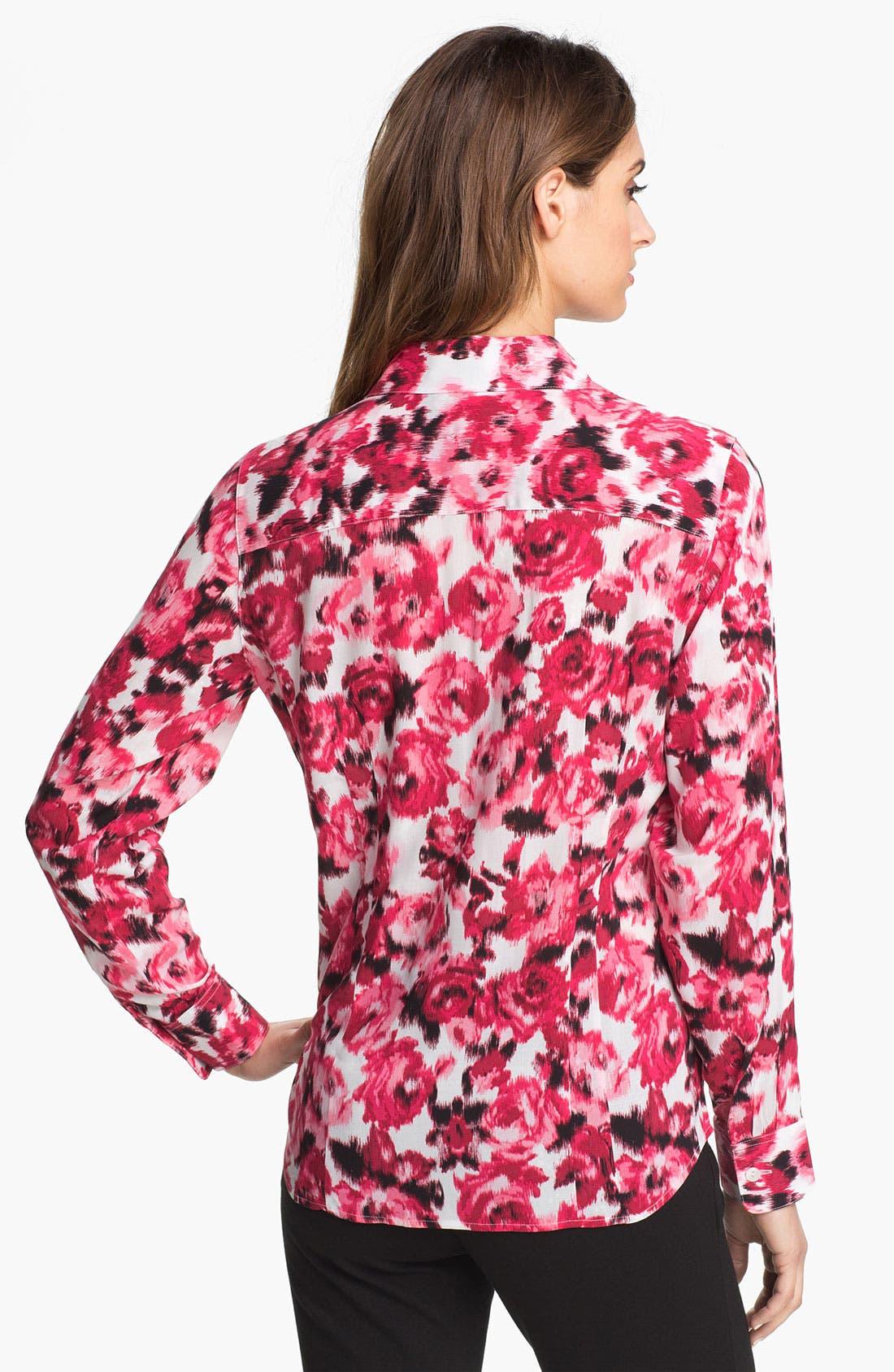 Alternate Image 2  - Foxcroft 'Ikat Rose' Shirt (Petite)