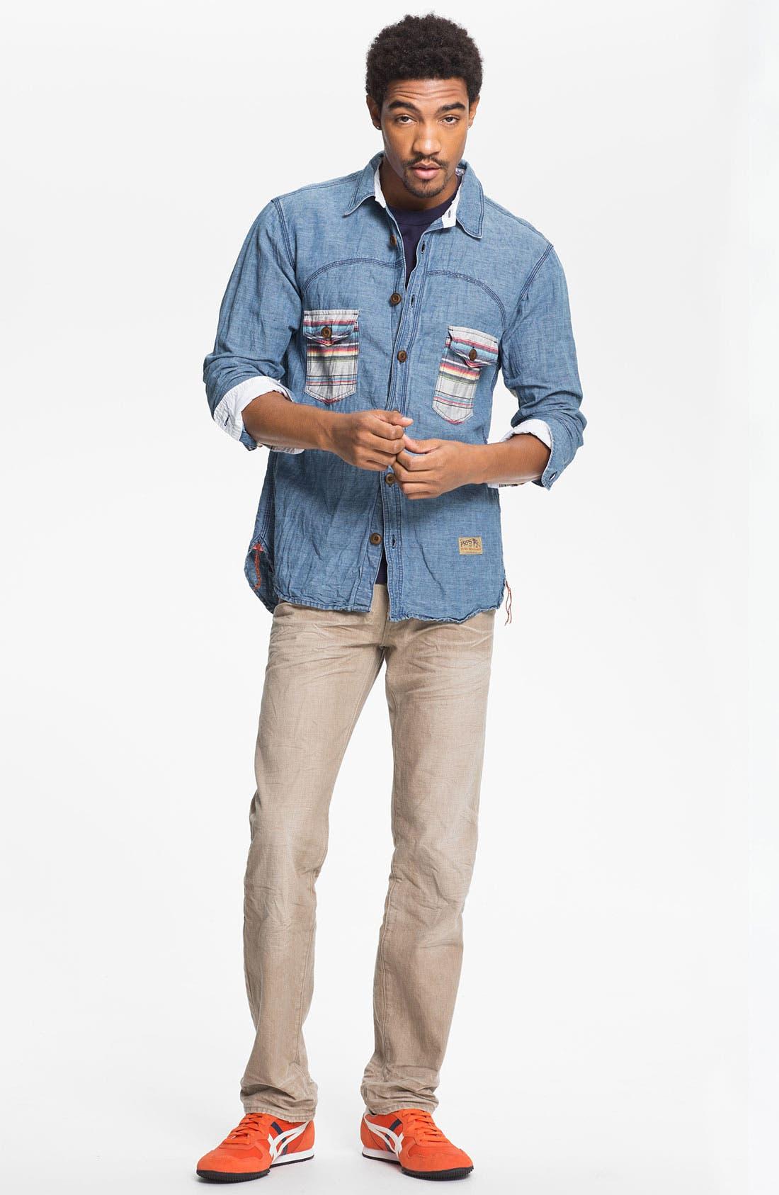 Alternate Image 5  - PRPS 'Vesta Rambler' Slim Fit Jeans (Beige)