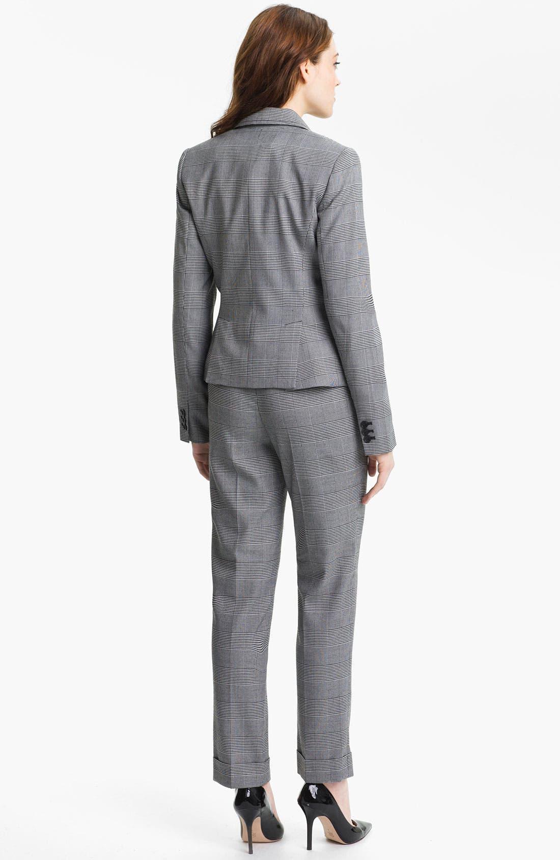 Alternate Image 5  - Anne Klein Cuffed Glen Plaid Pants (Petite)