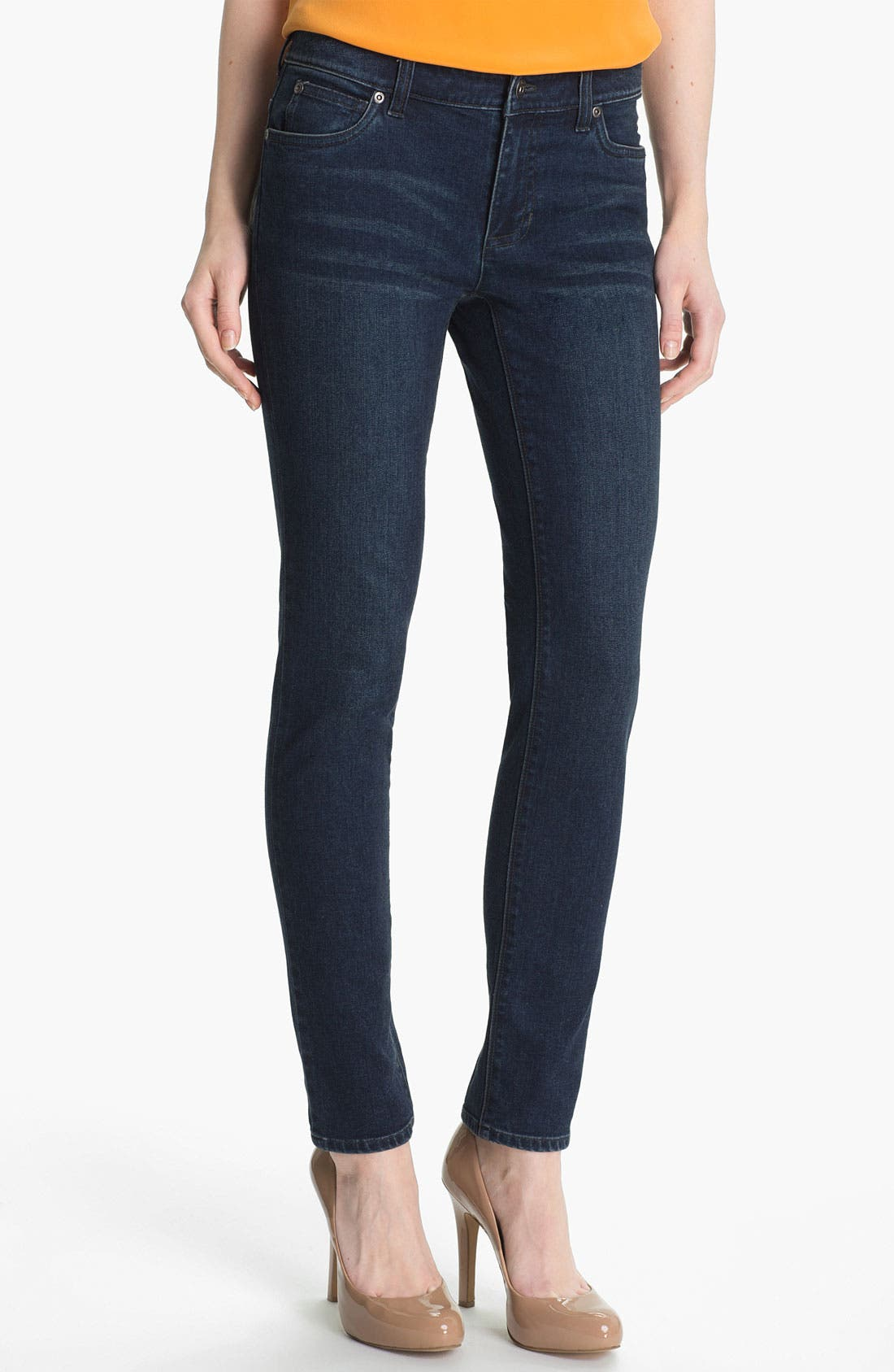 Alternate Image 1 Selected - Two by Vince Camuto Straight Leg Jeans (Dark Rinse)