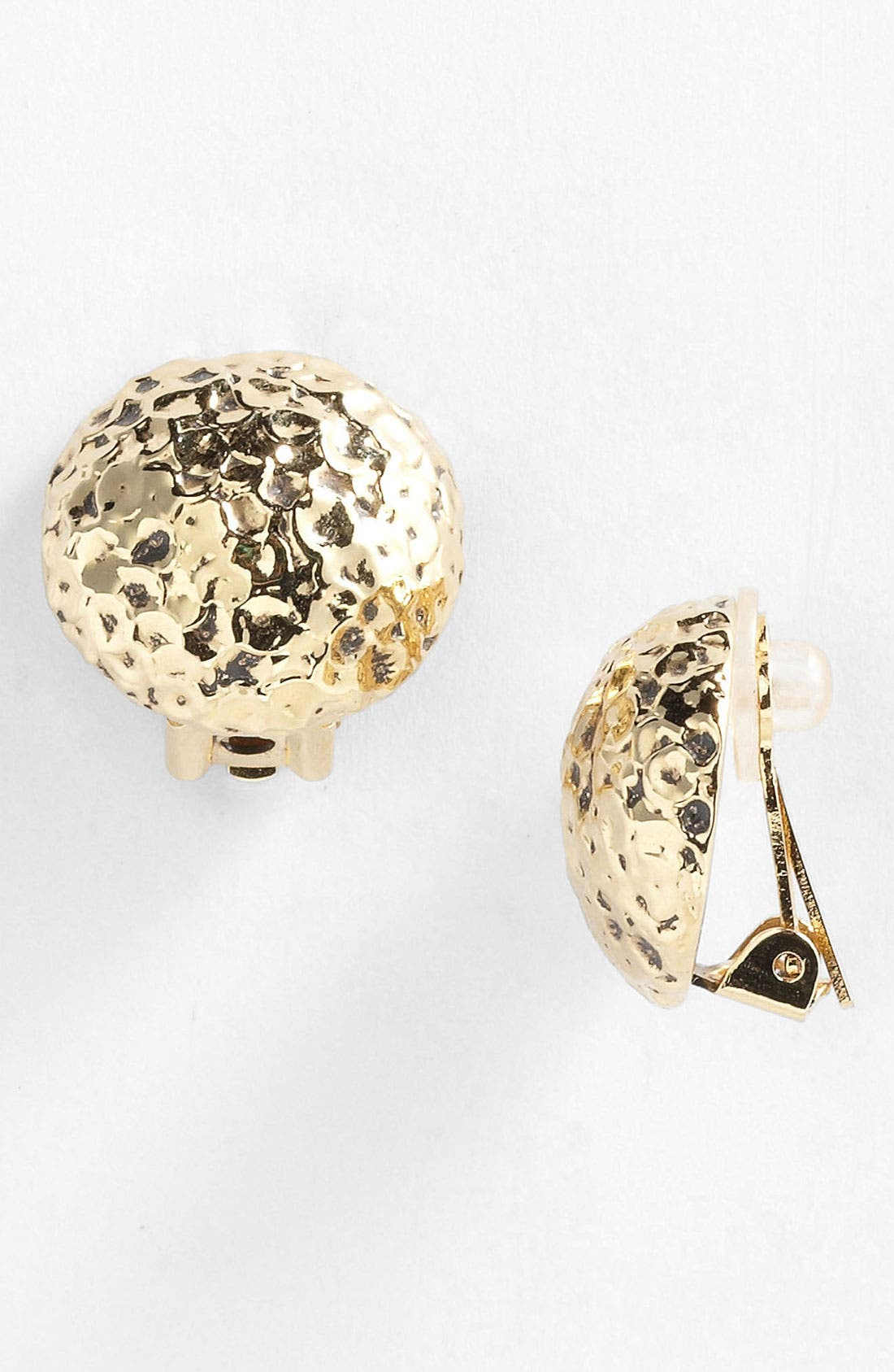 Main Image - St. John Collection Hammered Clip Earrings