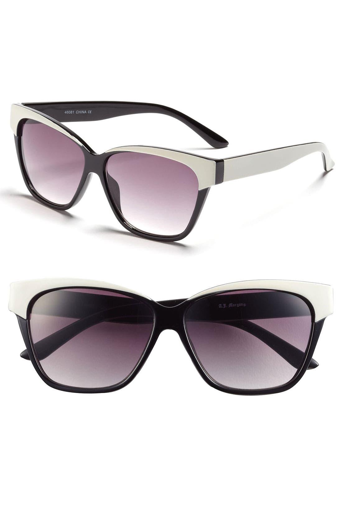 Alternate Image 1 Selected - A.J. Morgan Retro Sunglasses
