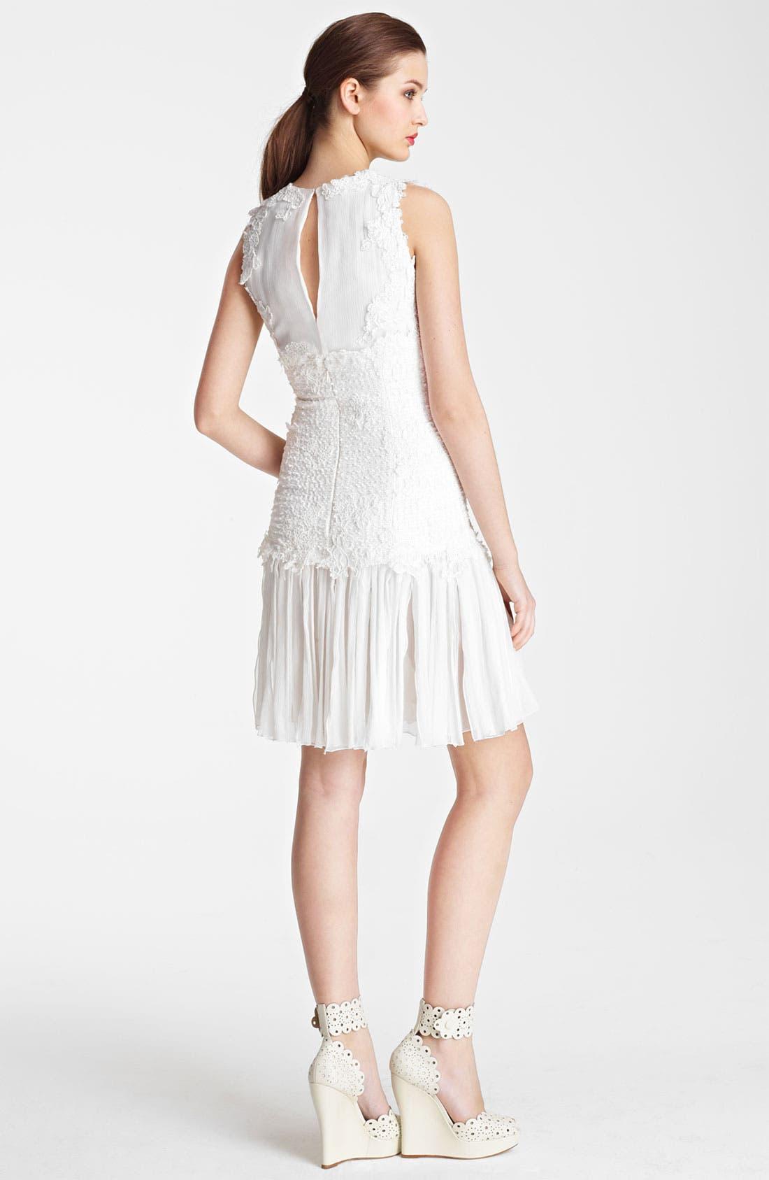 Alternate Image 2  - Oscar de la Renta Chiffon Dress
