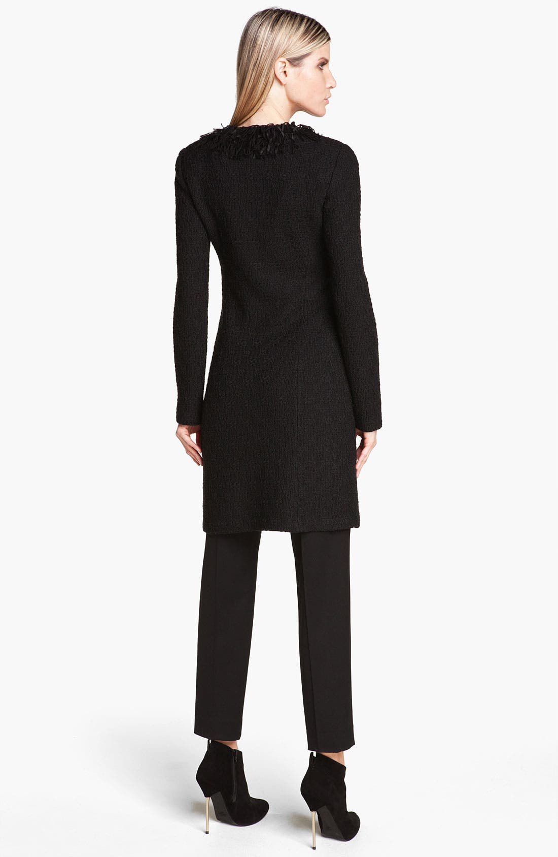 Alternate Image 3  - St. John Collection Fringe Trim Tweed Jacket