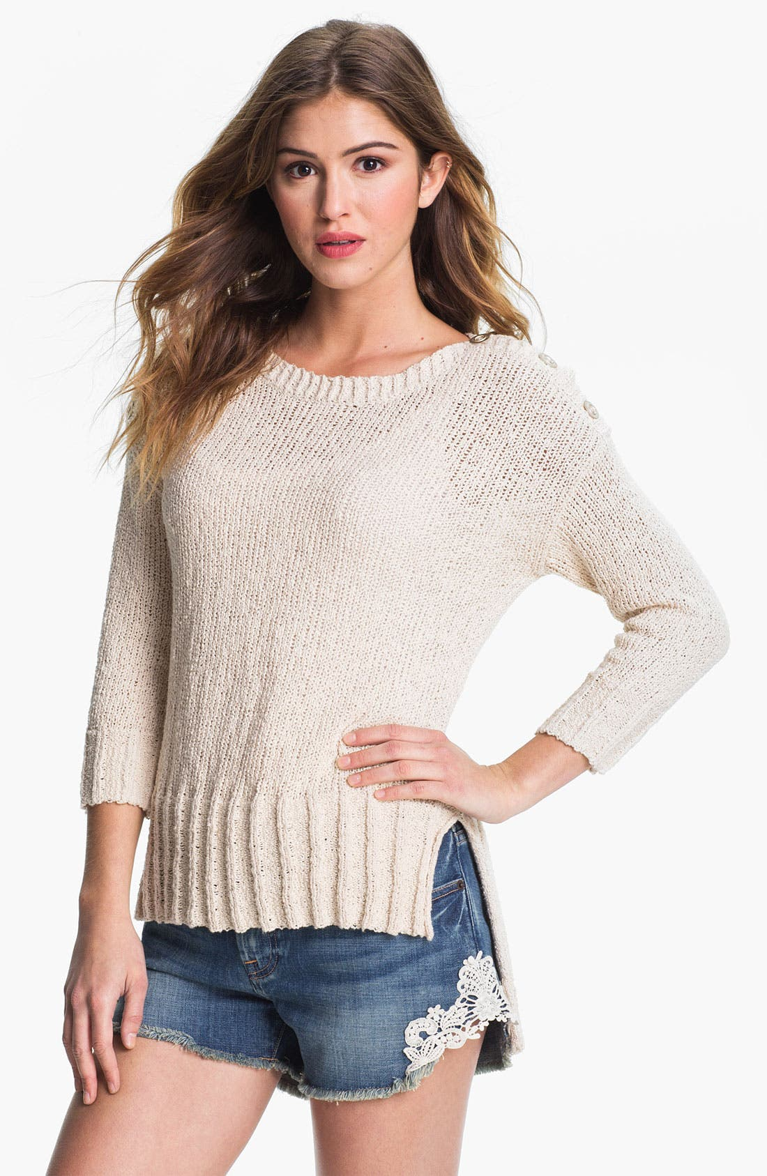 'Isabella' Sweater,                             Main thumbnail 1, color,                             Nigori