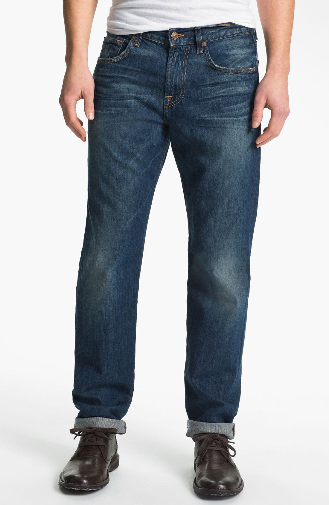 Alternate Image 2  - 7 For All Mankind® 'Carsen' Straight Leg Jeans (Juniper Bay)