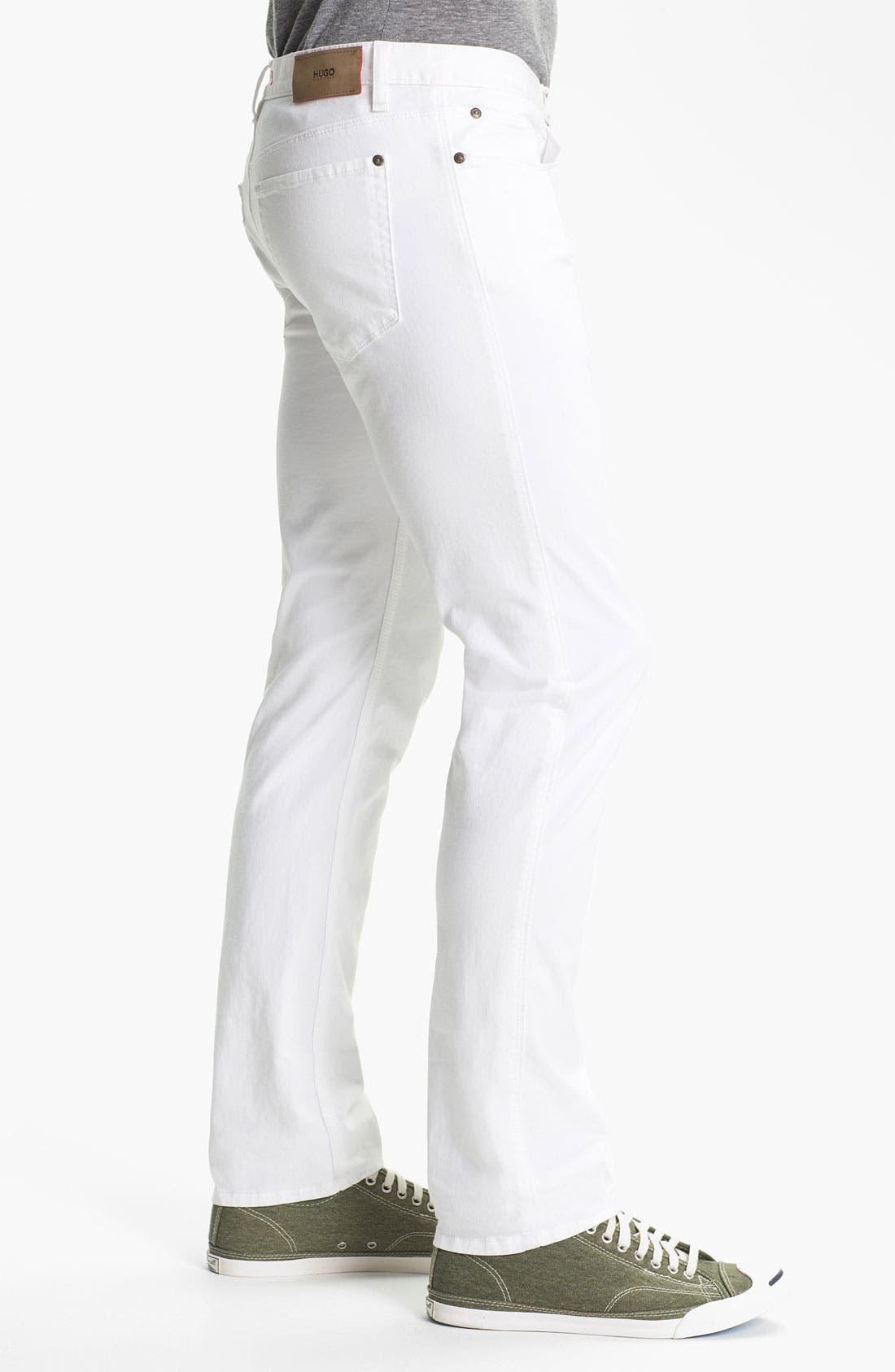 Alternate Image 3  - HUGO '708' Slim Straight Jeans
