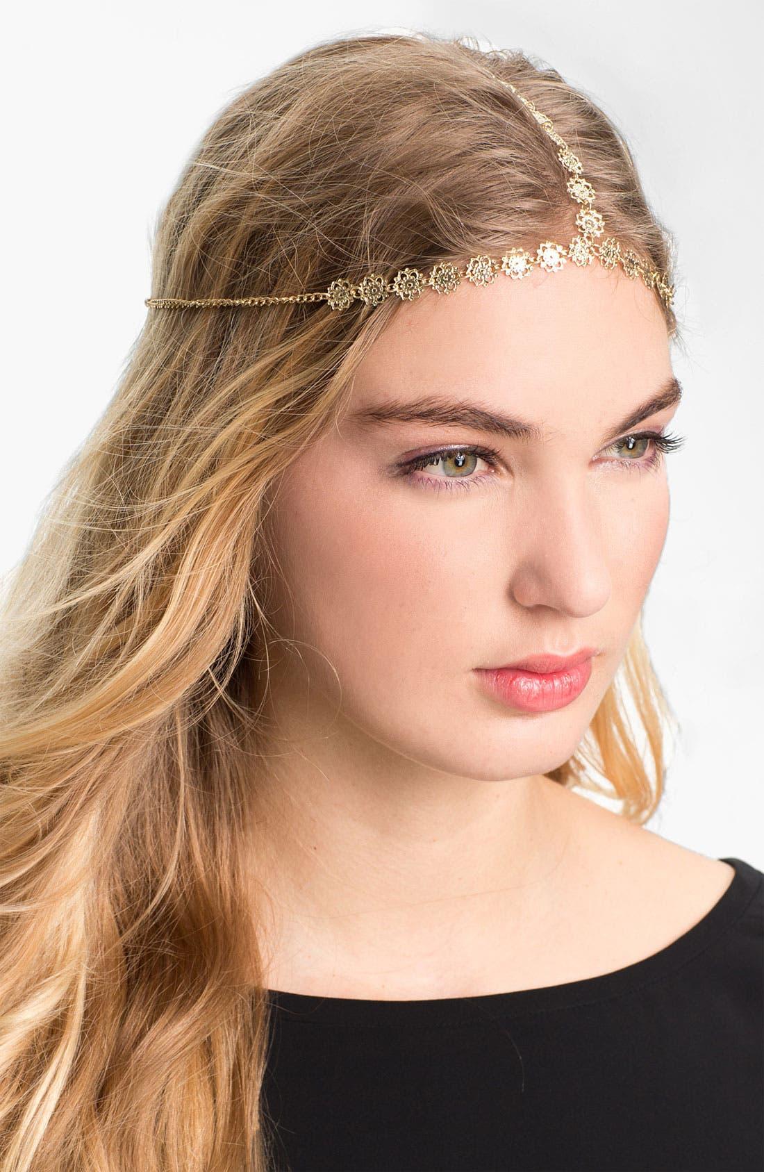 Main Image - Carole Floral Chain Head Wrap