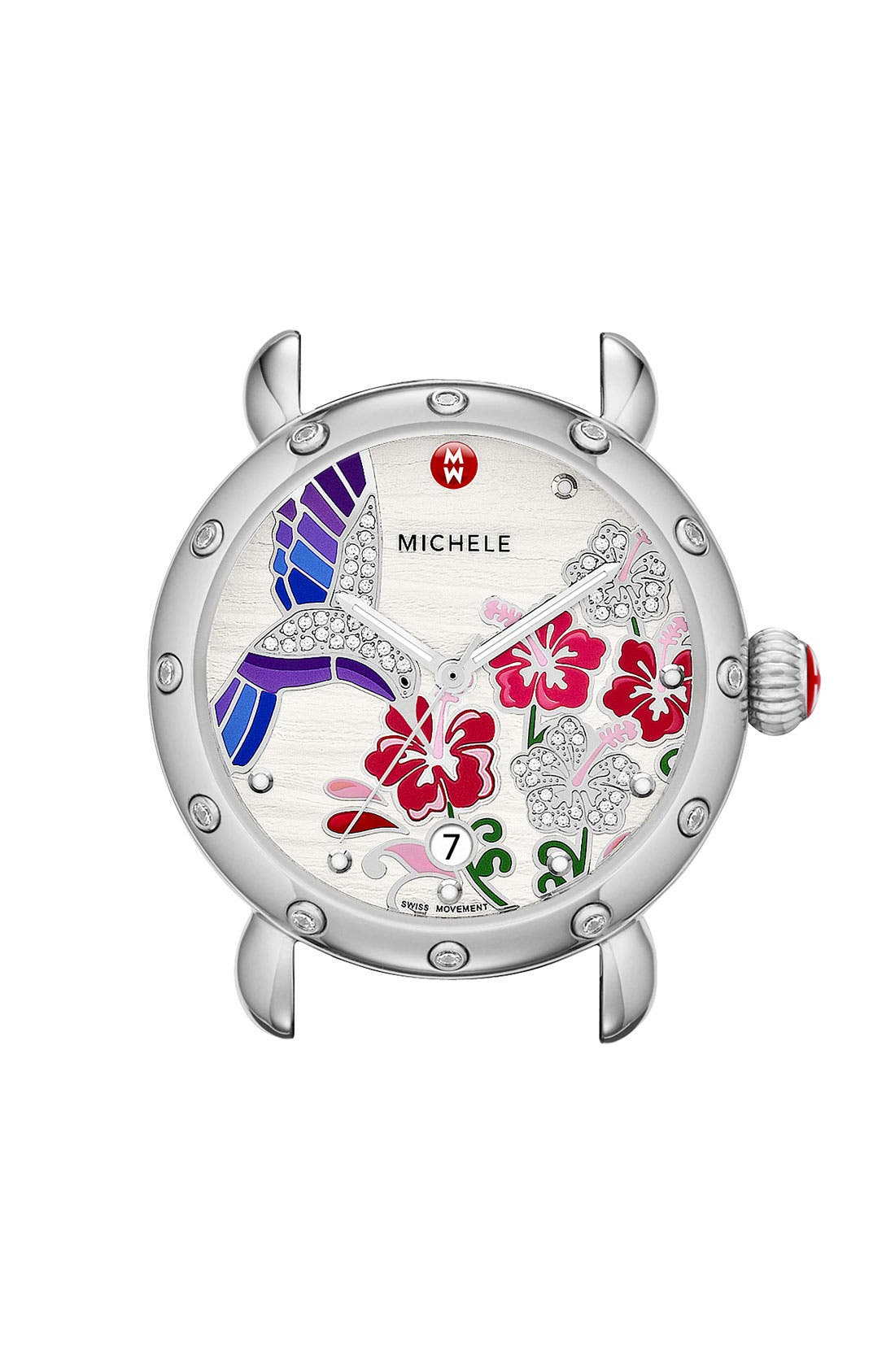 Alternate Image 1 Selected - MICHELE 'Garden Party - Hummingbird' Diamond Watch Case