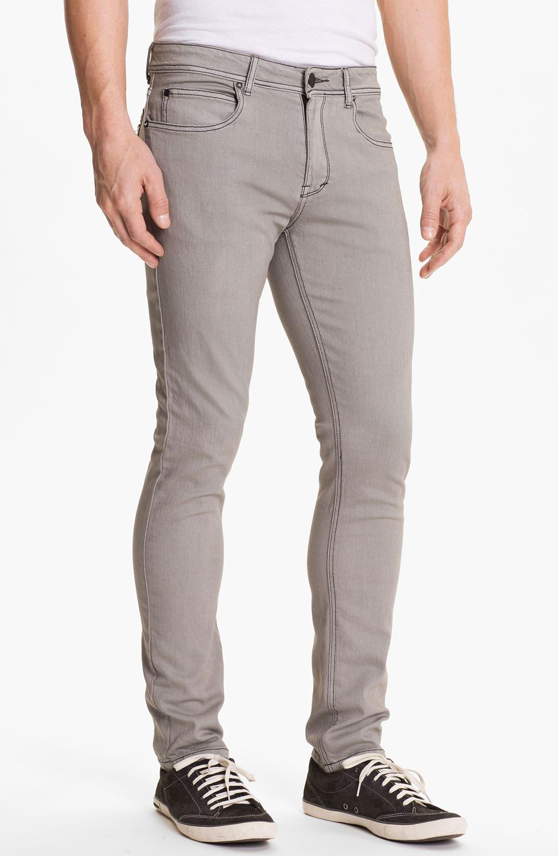Alternate Image 2  - Ezekiel 'Chopper' Slim Straight Leg Jeans (Light Grey)