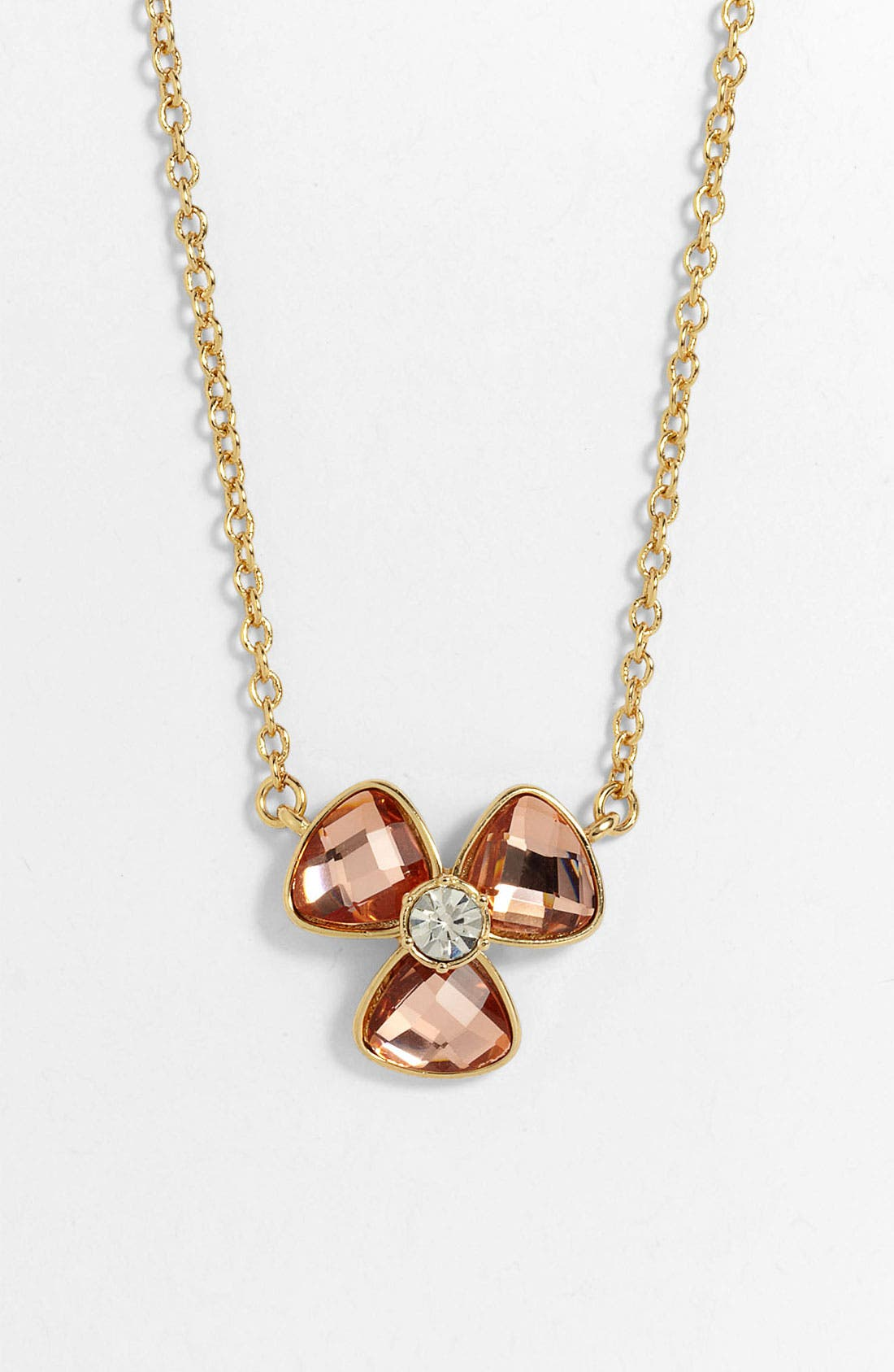 Alternate Image 1 Selected - Anne Klein Floral Pendant Necklace