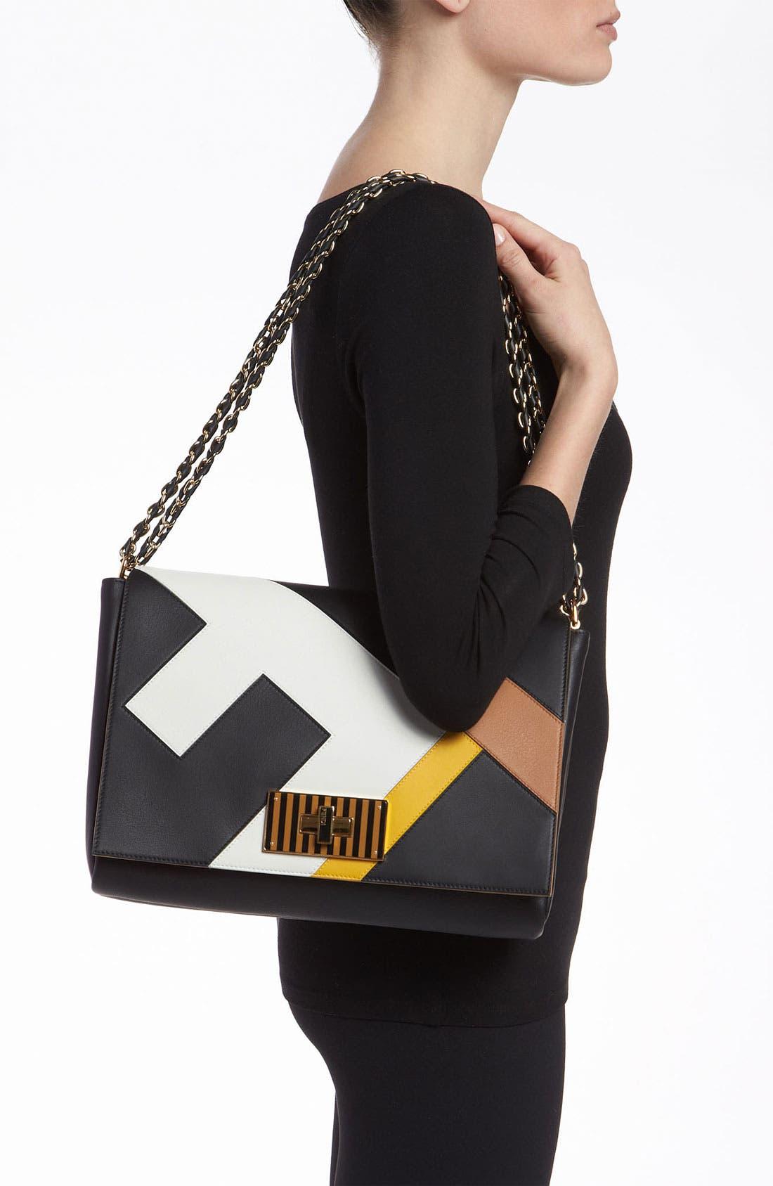 Alternate Image 2  - Fendi 'Claudia 3D' Leather Shoulder Bag