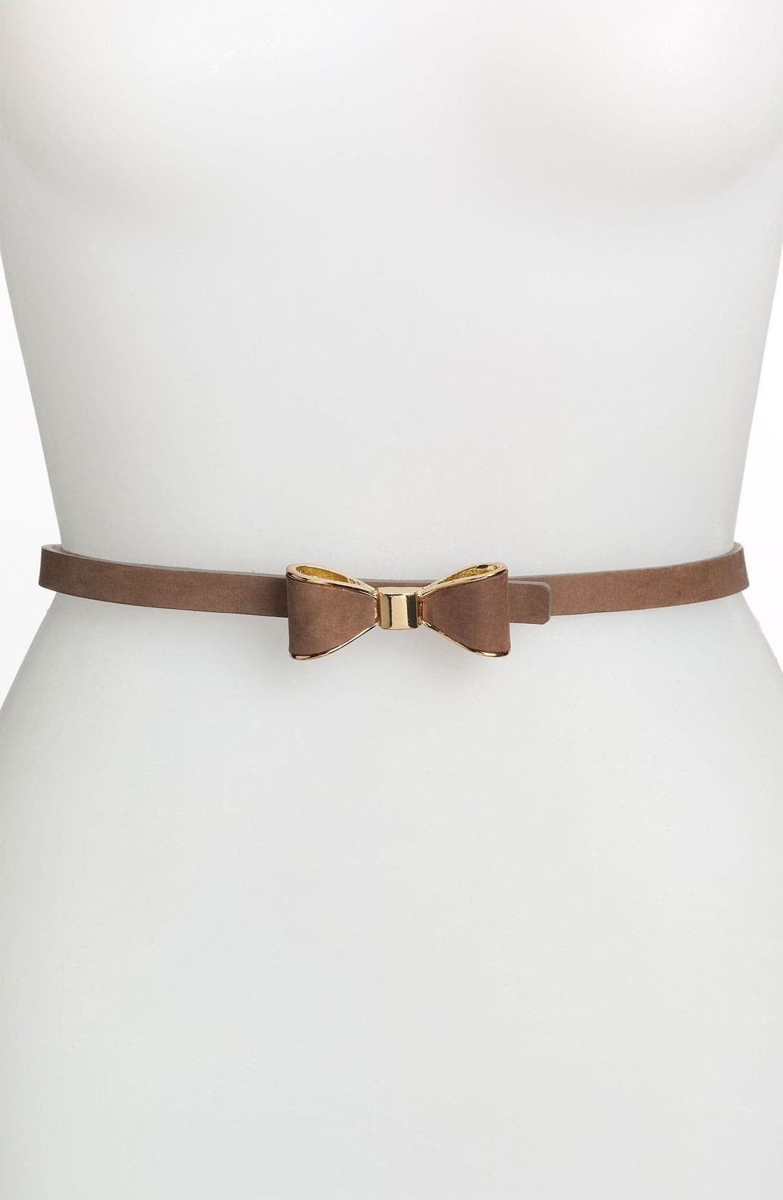 Alternate Image 1 Selected - Tarnish Skinny Suede Bow Belt