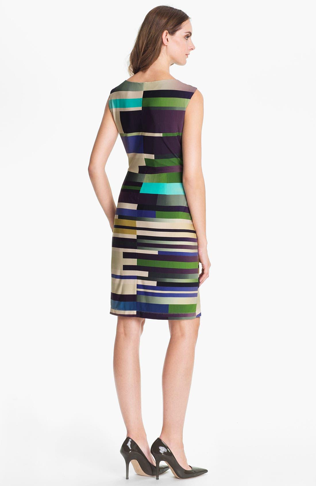 Alternate Image 2  - Suzi Chin for Maggy Boutique Print Jersey Sheath Dress