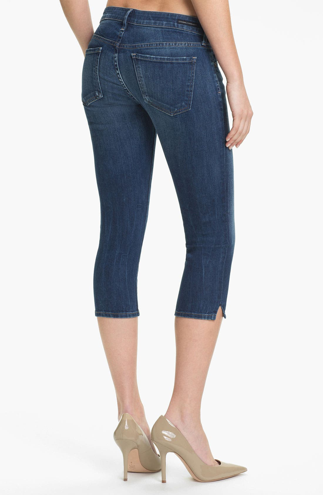 Alternate Image 2  - Citizens of Humanity 'Racer' Crop Skinny Jeans (Envy)
