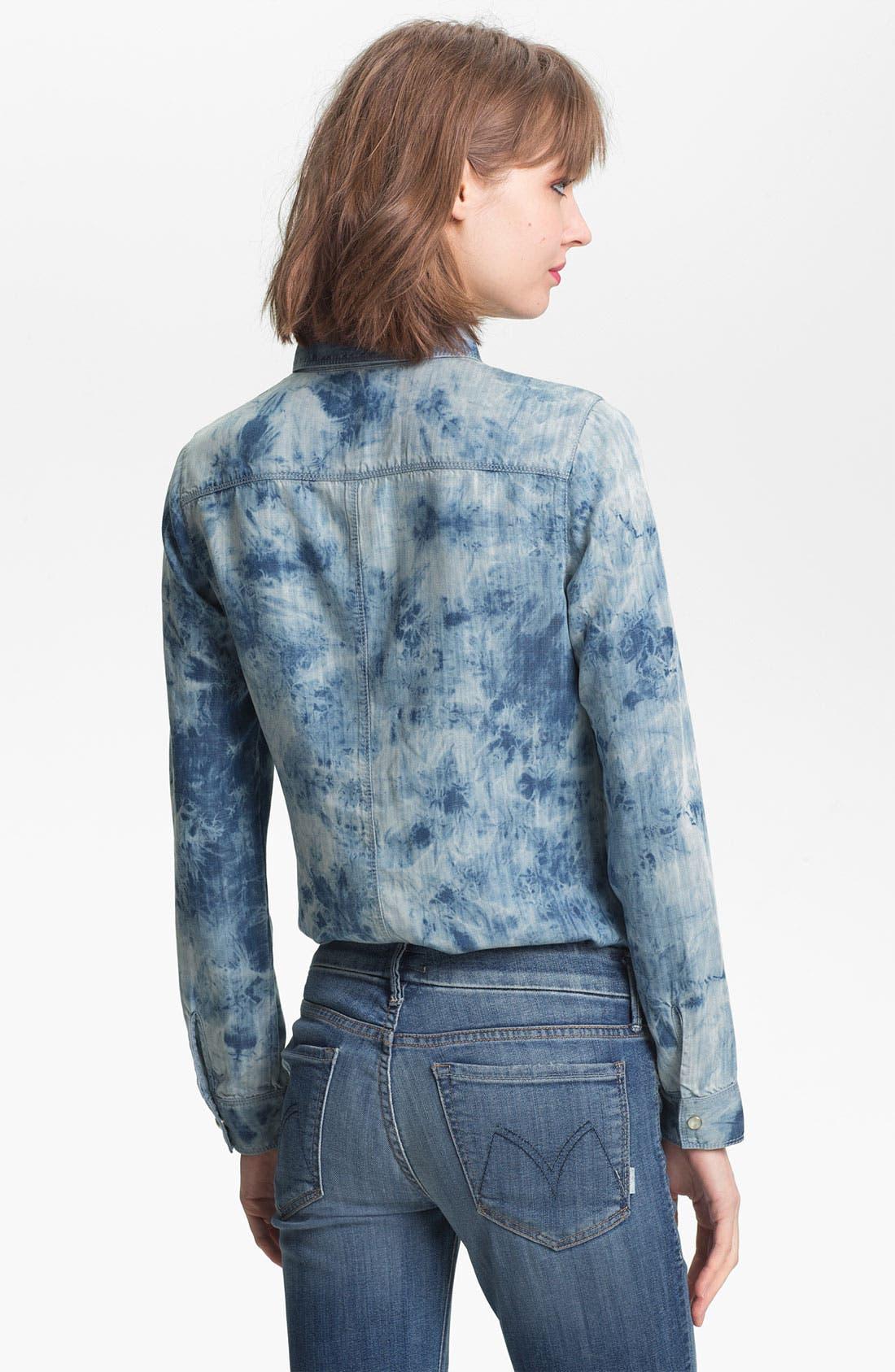 Alternate Image 2  - Trouvé Acid Wash Denim Shirt