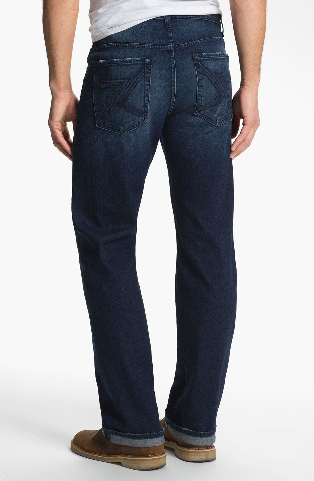 Main Image - 7 For All Mankind® 'Austyn' Relaxed Straight Leg Jeans (Authentic Indigo)