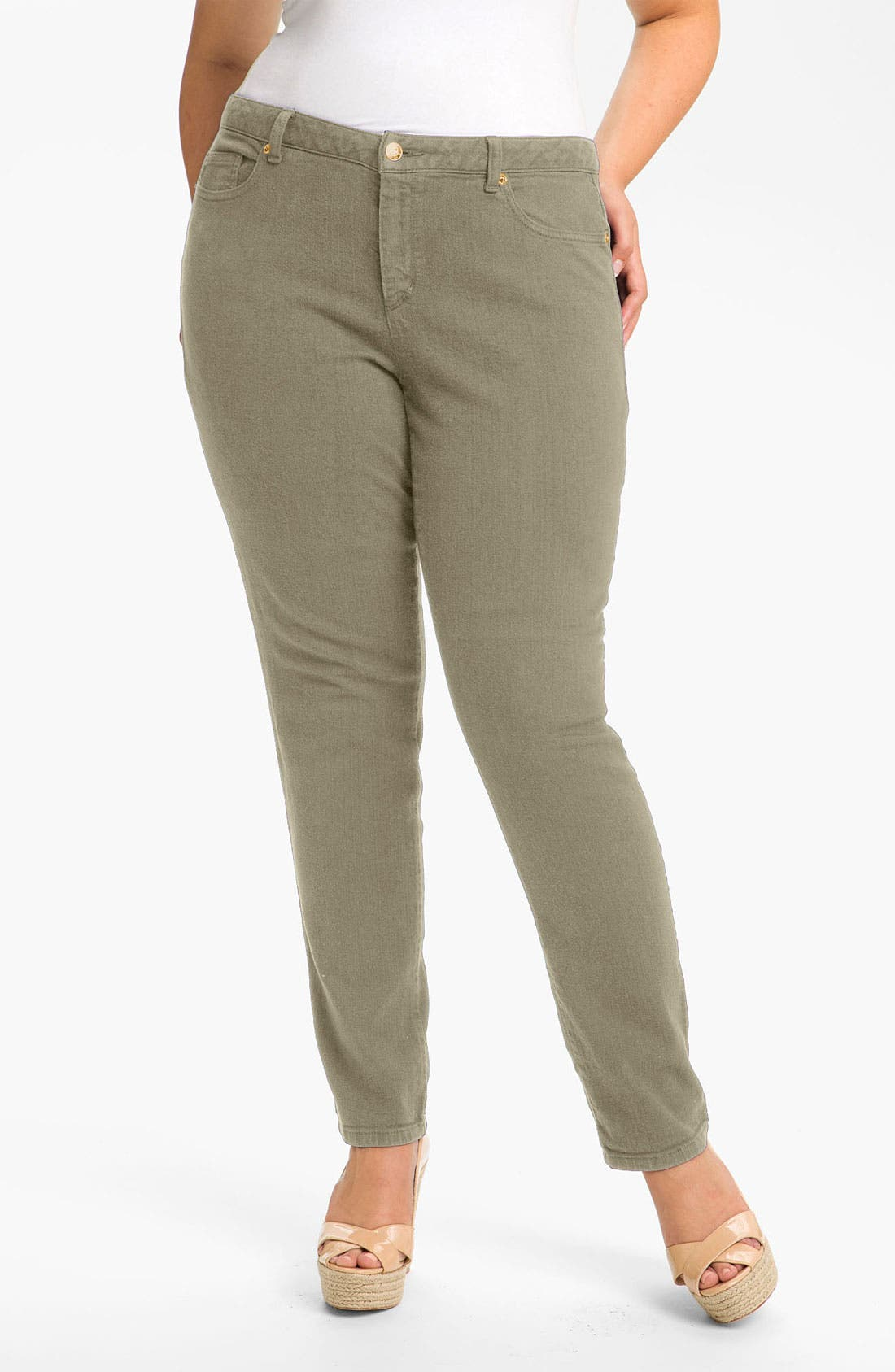 Alternate Image 1 Selected - MICHAEL Michael Kors Colored Skinny Jeans (Plus)