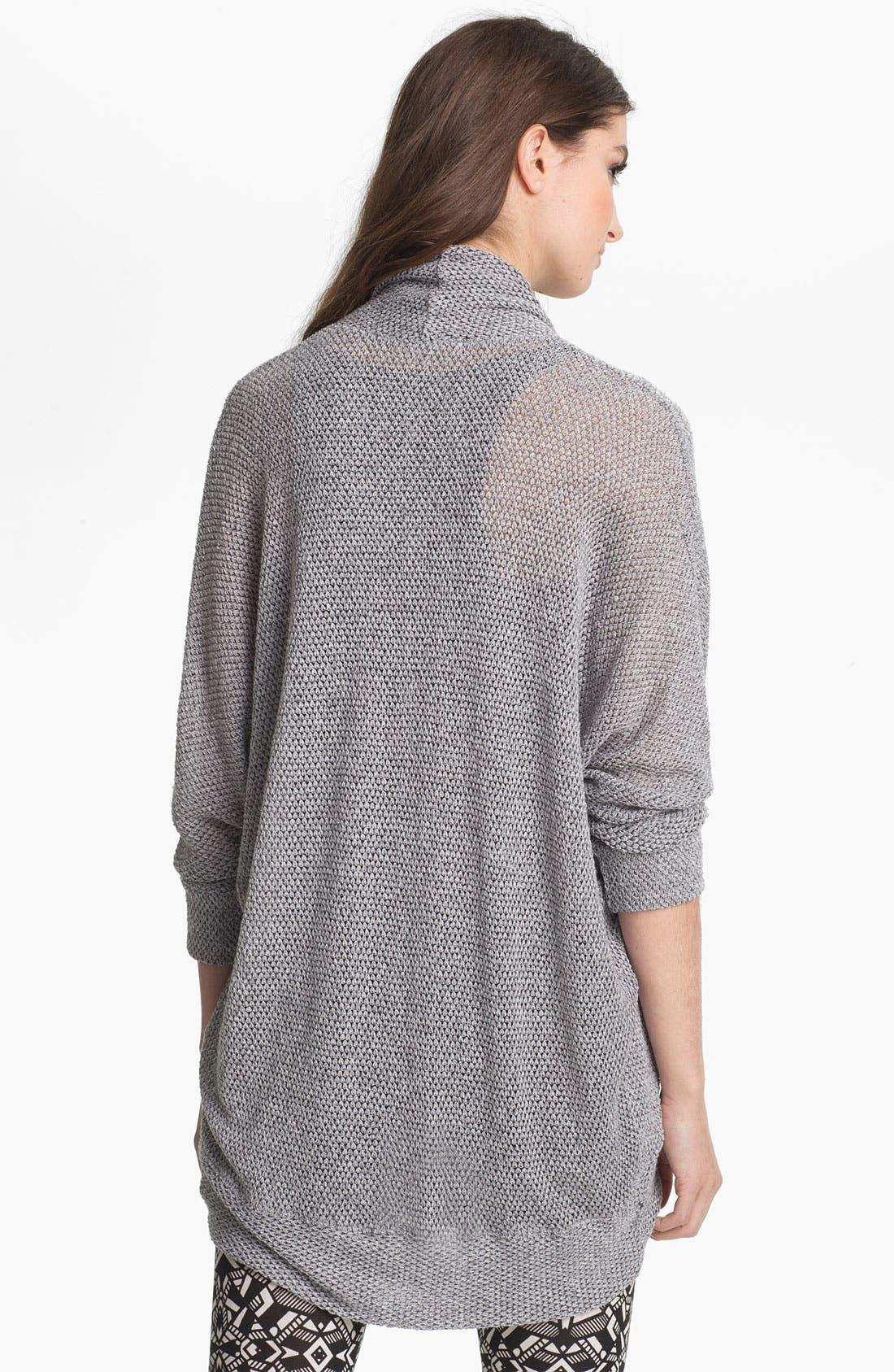 Alternate Image 2  - Painted Threads Oversized Lightweight Knit Cardigan (Juniors)