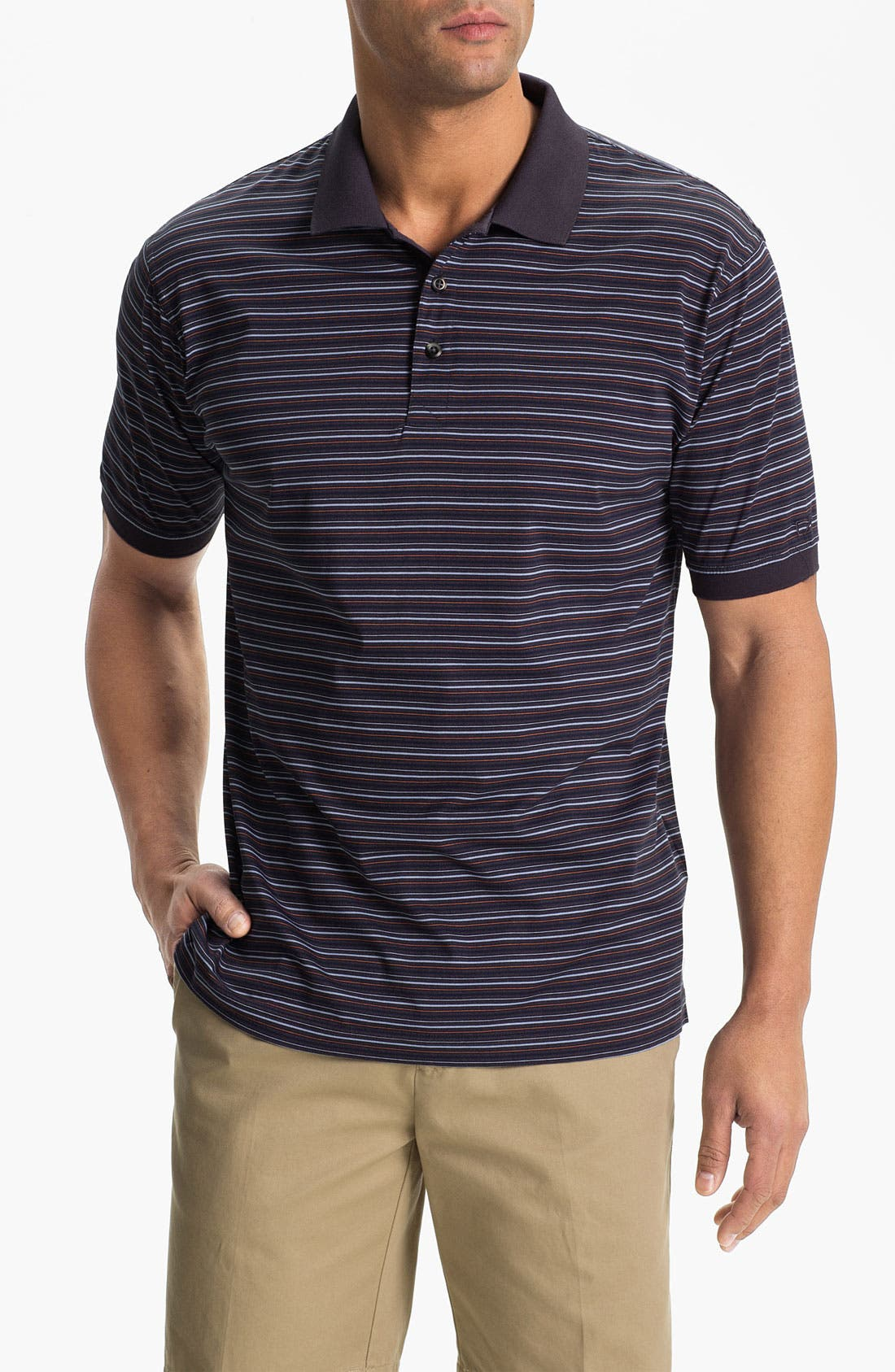 Alternate Image 1 Selected - Cutter & Buck '70/2's Performance Andrew Stripe' Regular Fit Polo (Online Only)