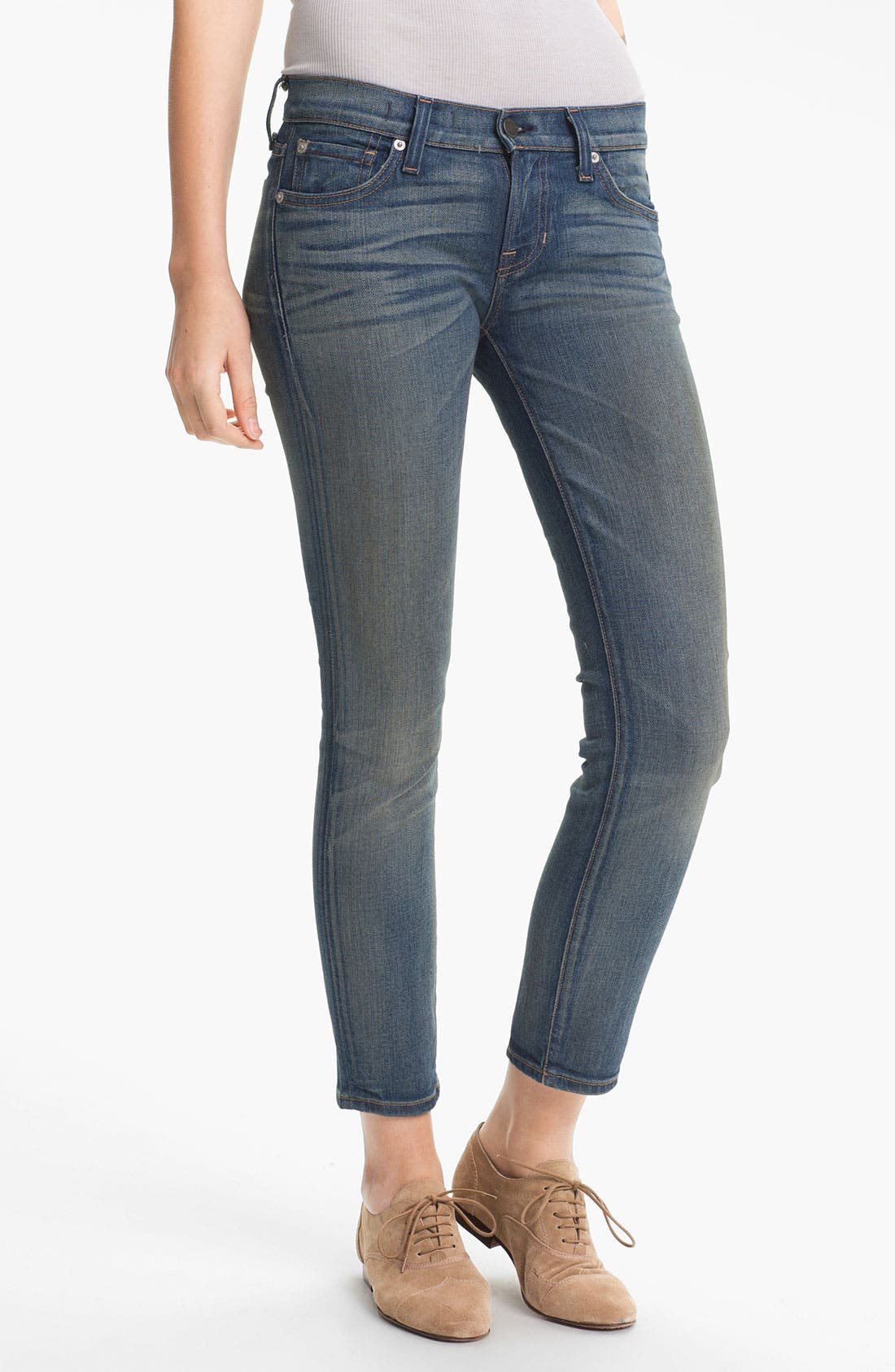 Main Image - TEXTILE Elizabeth and James 'Ozzy' Skinny Crop Jeans