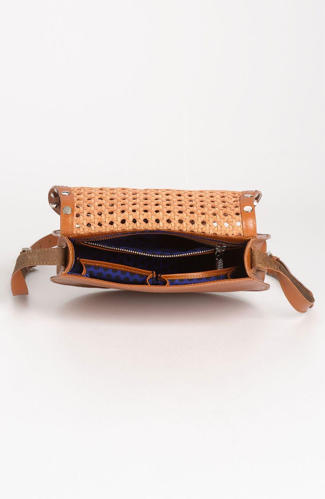 Alternate Image 3  - Rebecca Minkoff 'Skylar - Wicker Woven' Leather Crossbody Bag