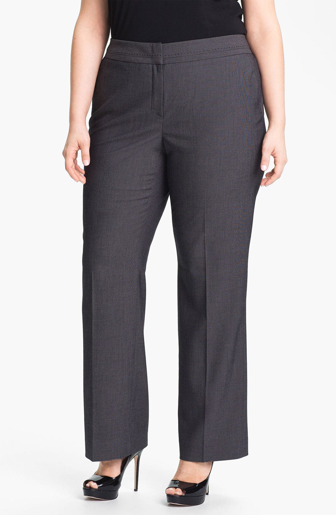 Alternate Image 1 Selected - Sejour 'Zola' Twill Suit Trousers (Plus)