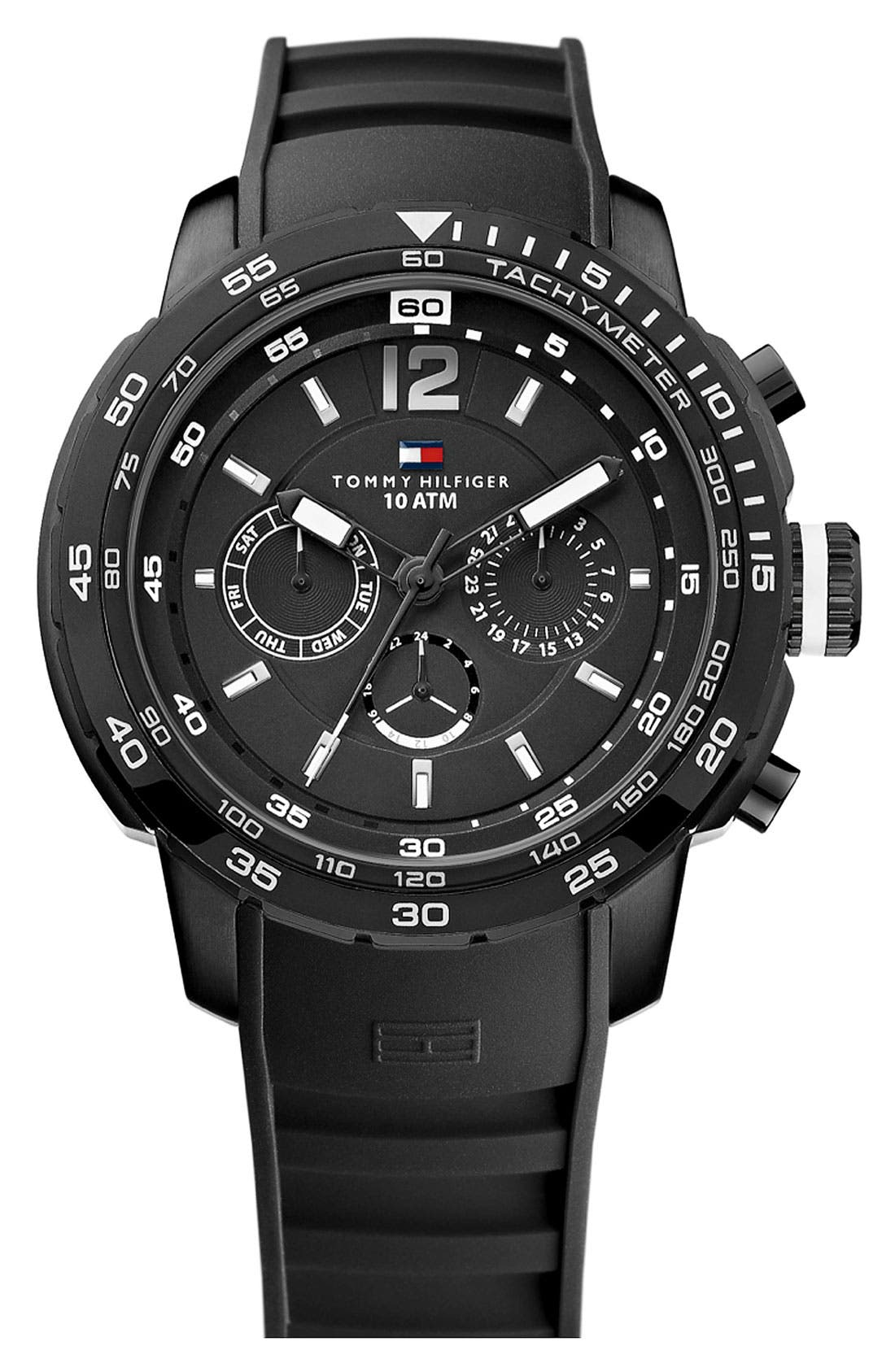 Alternate Image 1 Selected - Tommy Hilfiger Multifunction Diver's Watch, 46mm