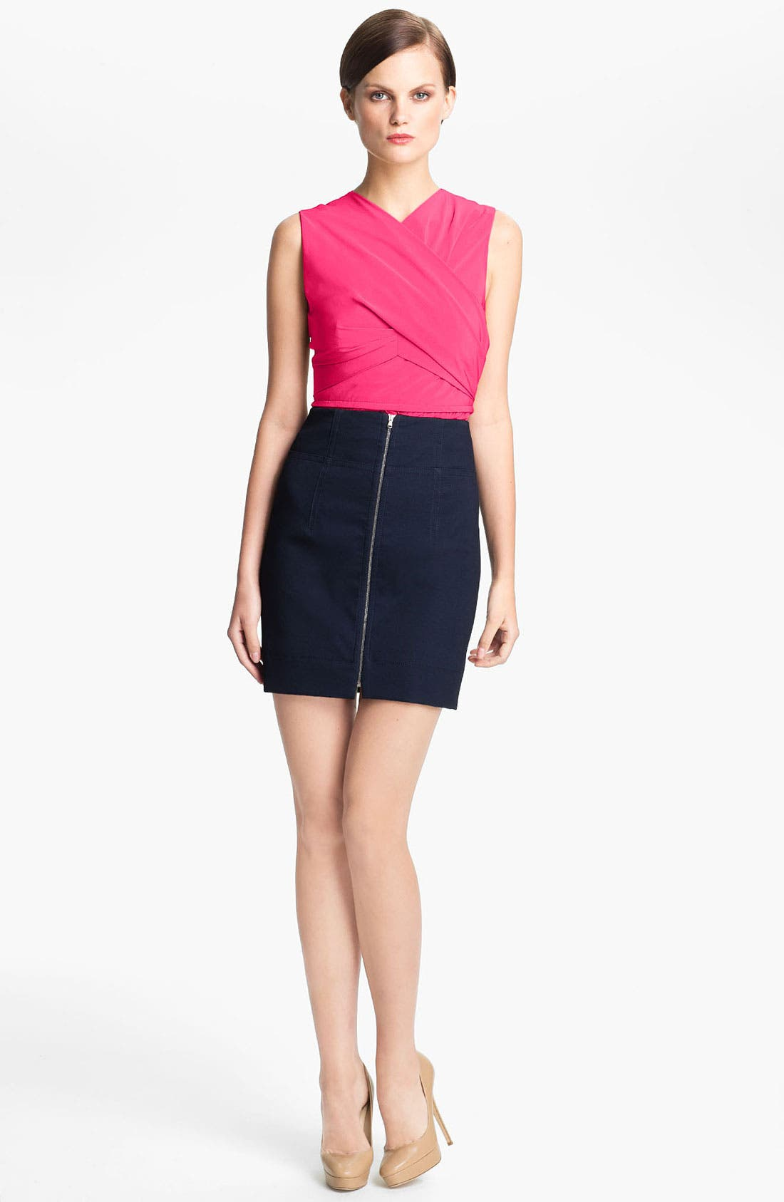 Alternate Image 1 Selected - Carven Wrap Front Peplum Top