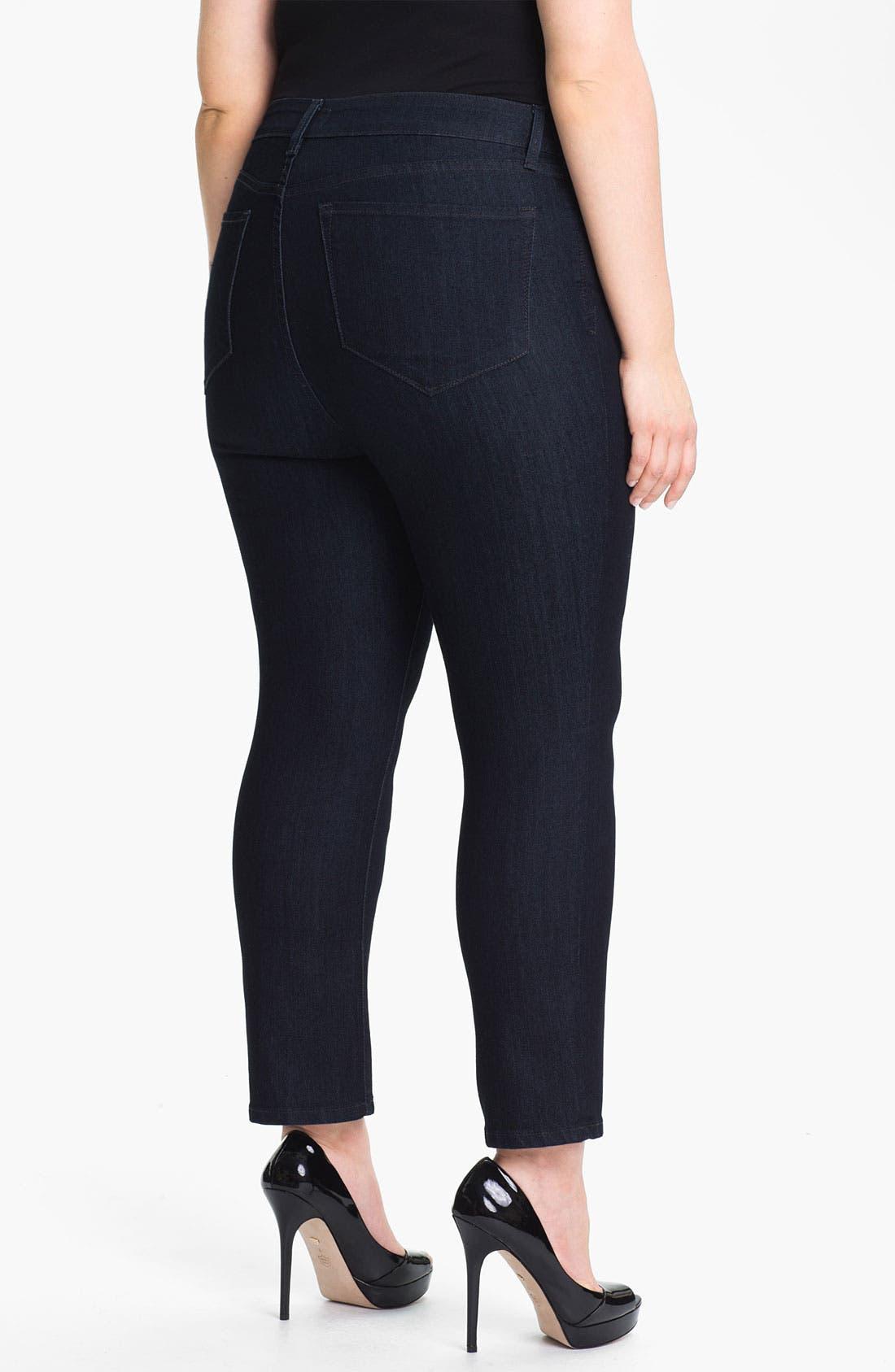 Alternate Image 2  - NYDJ 'Audrey' Stretch Ankle Skinny Jeans (Plus Size)