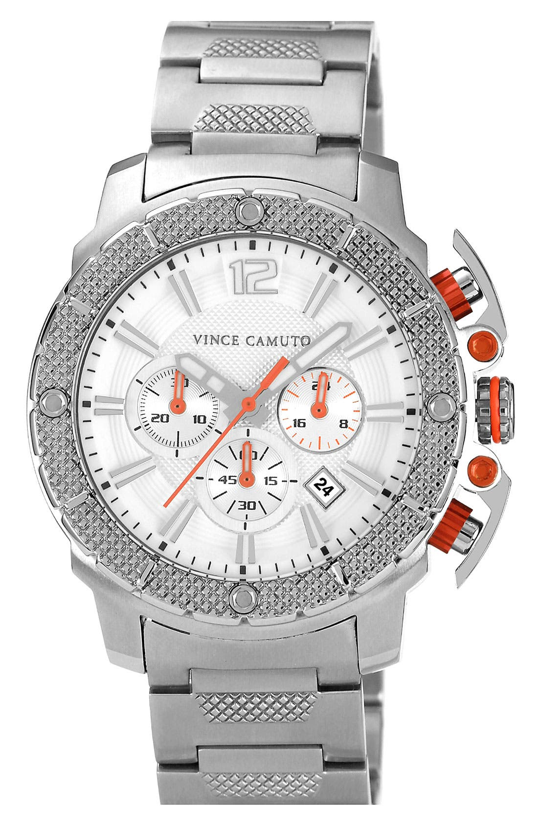 Alternate Image 1 Selected - Vince Camuto 'Striker' Chronograph Bracelet Watch, 45mm