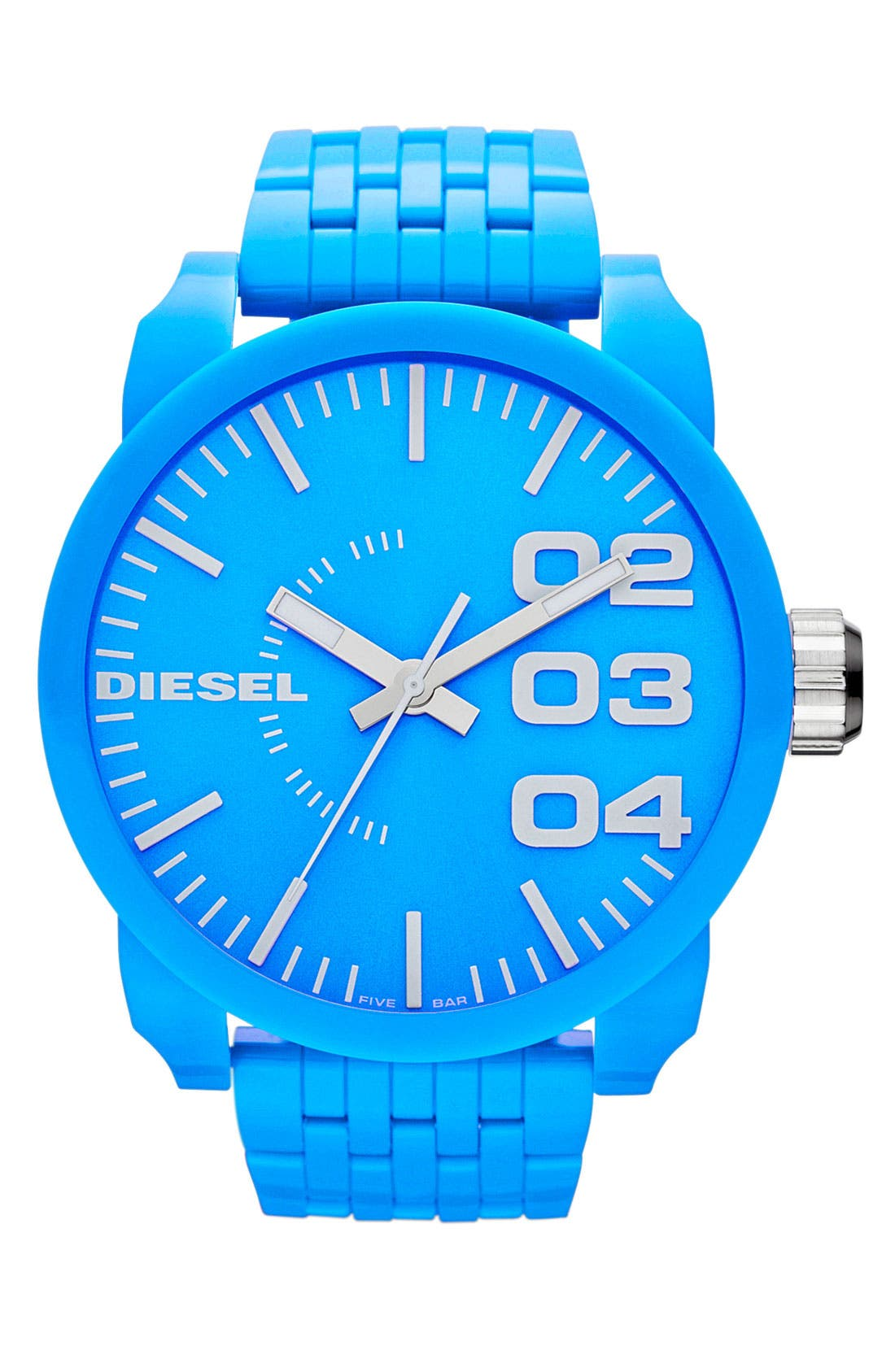 'Franchise' Oversized Round Bracelet Watch, 59mm x 67mm,                         Main,                         color, Turquoise