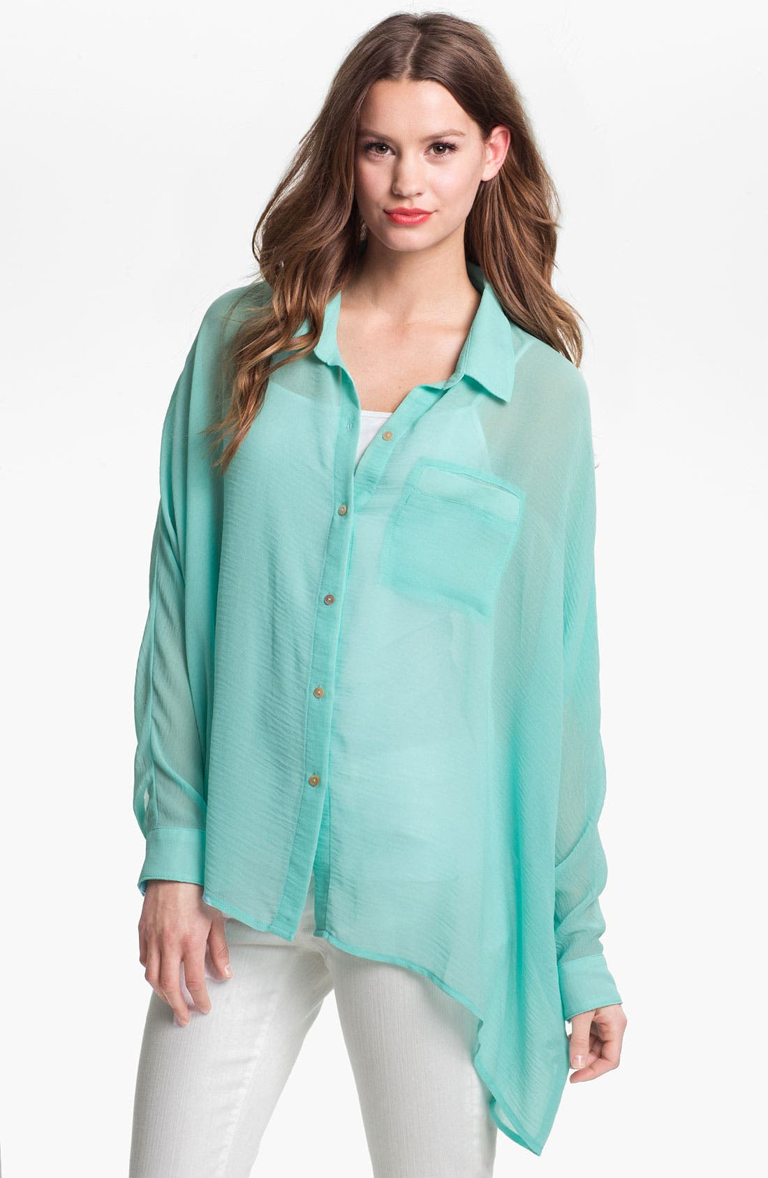 Alternate Image 1 Selected - KUT from the Kloth Asymmetrical Shirt
