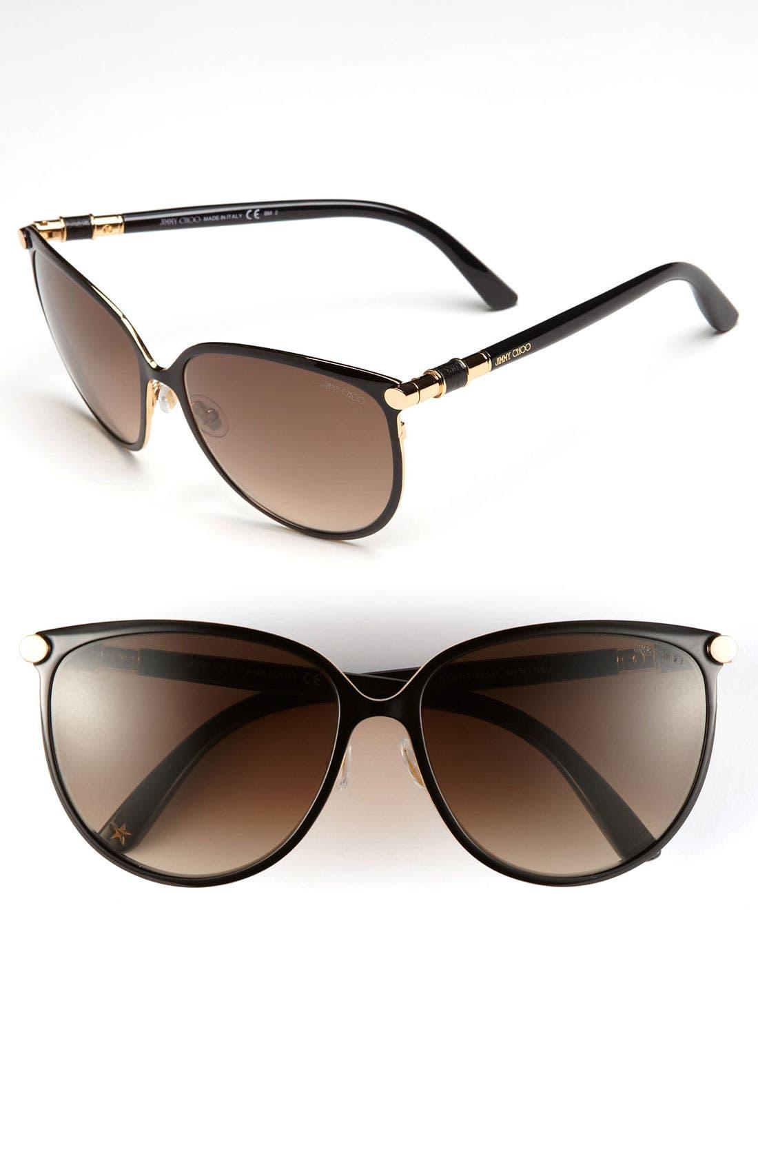 Alternate Image 1 Selected - Jimmy Choo 'Juliet' 60mm Cat's Eye Sunglasses