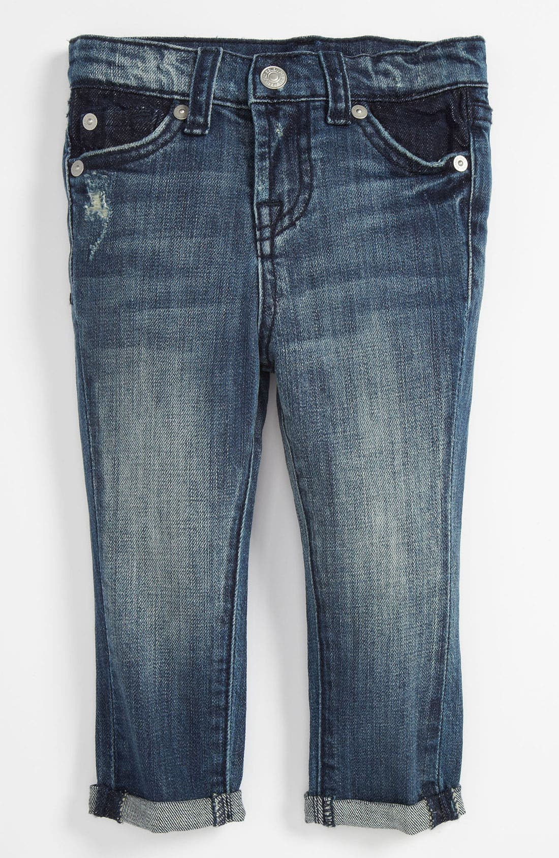 Alternate Image 2  - 7 For All Mankind® Skinny Leg Crop Jeans (Baby)