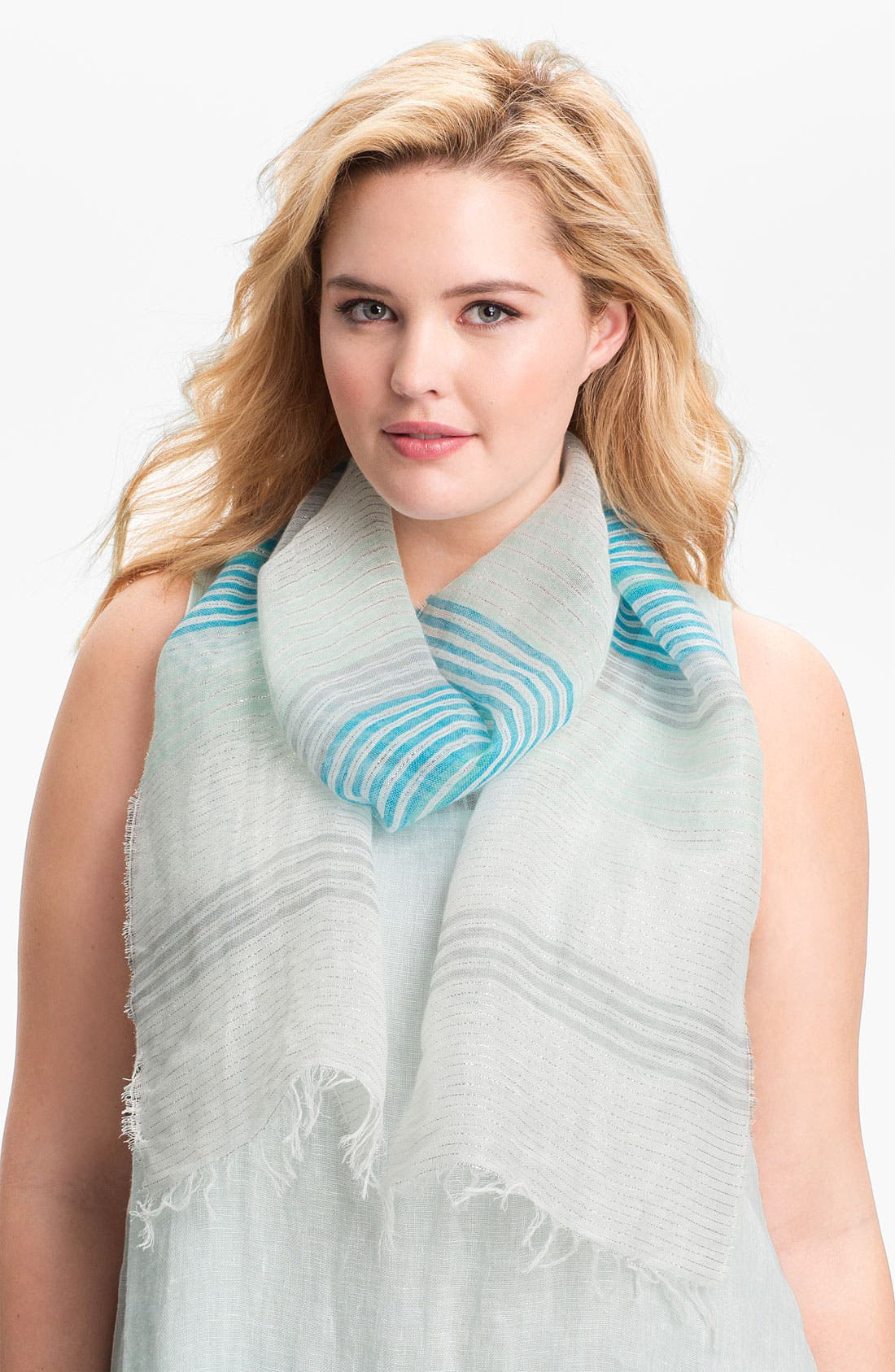 Alternate Image 1 Selected - Eileen Fisher Metallic Threaded Scarf