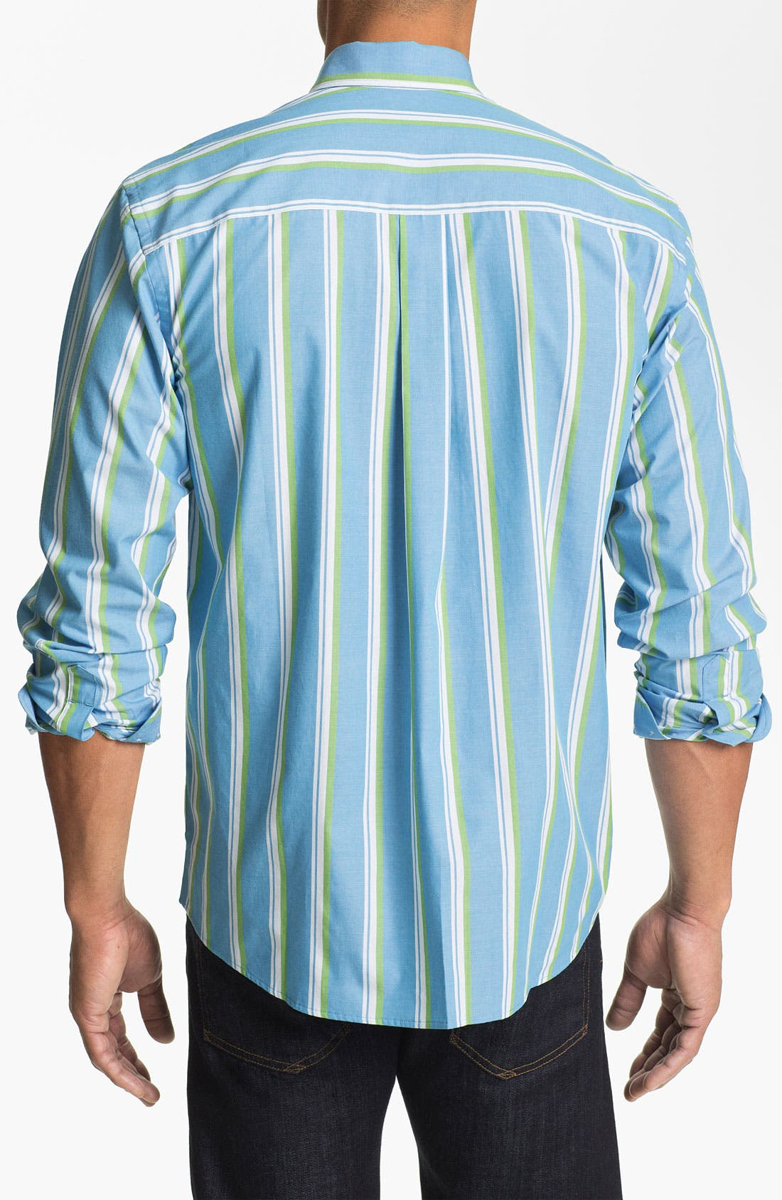 Alternate Image 2  - Cutter & Buck 'Whitmire Stripe' Regular Fit Sport Shirt (Big & Tall)