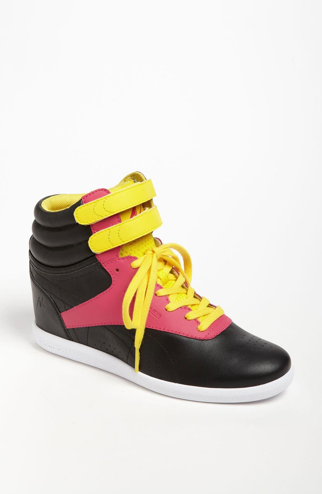 Alternate Image 1 Selected - Reebok 'Freestyle Hi Wedge A. Keys' Sneaker (Women)