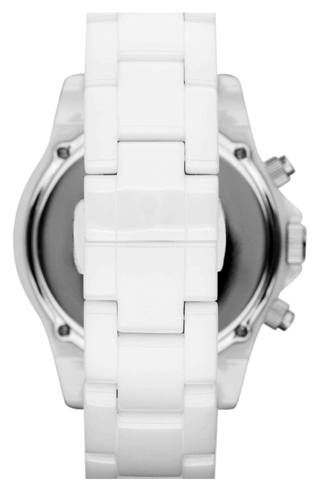 Alternate Image 3  - Michael Kors 'Madison' Crystal Bezel Ceramic Watch, 41mm