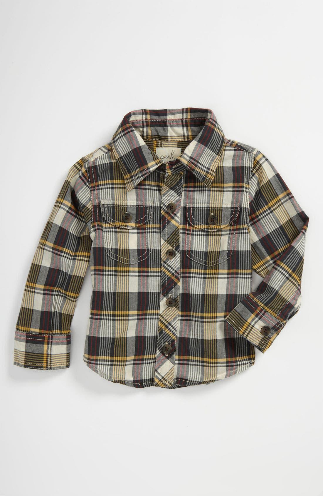 Alternate Image 1 Selected - Peek 'Camden' Plaid Shirt (Baby)