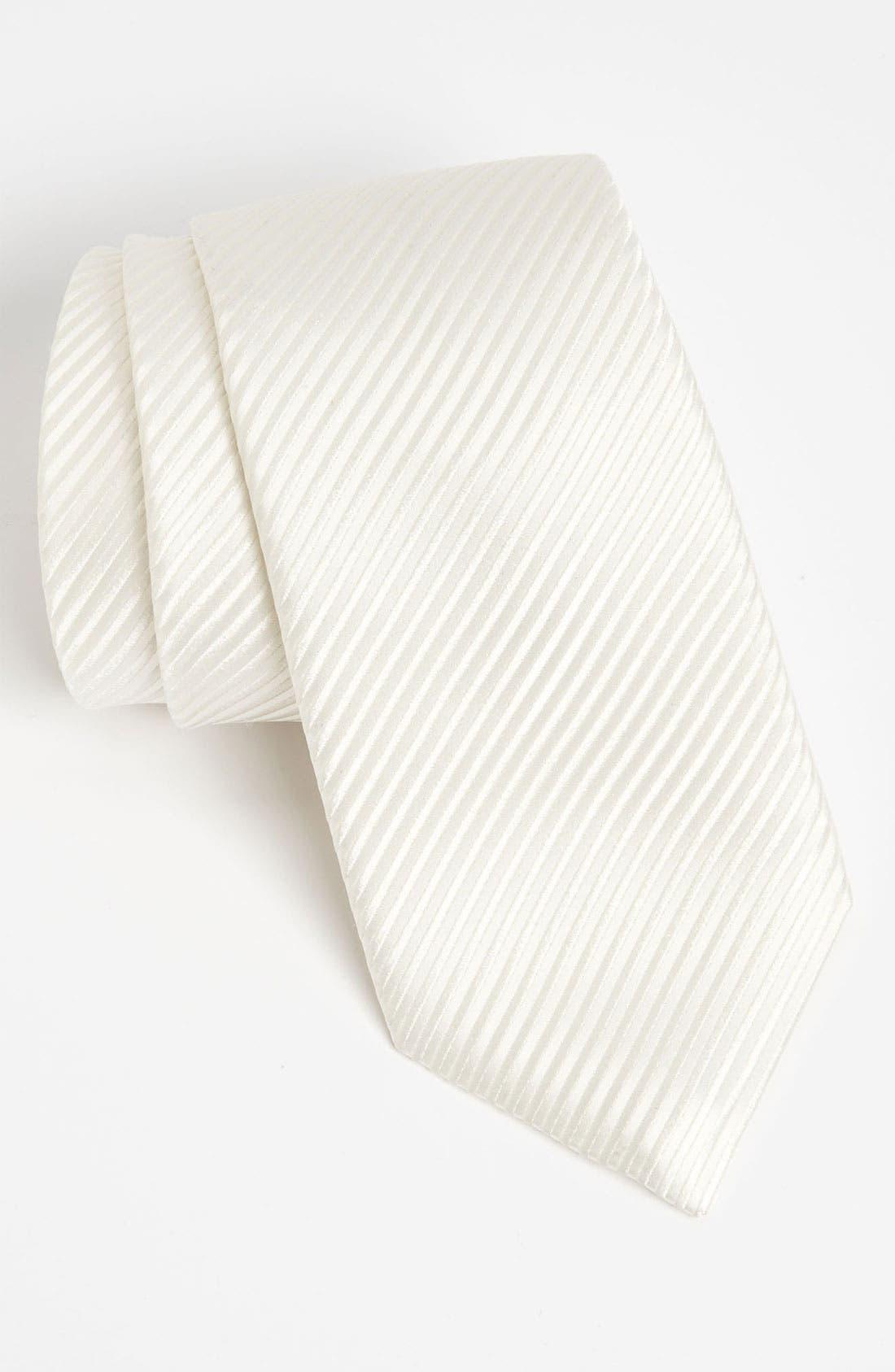 Woven Silk Tie,                         Main,                         color, White