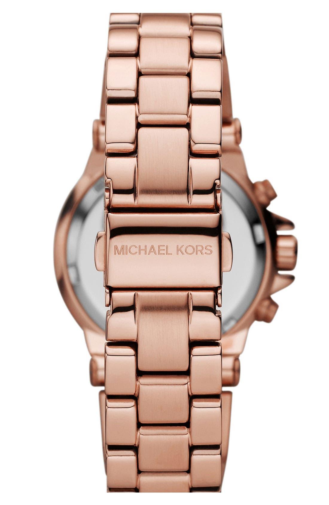 Alternate Image 3  - Michael Kors Small Rose Gold Chronograph Watch
