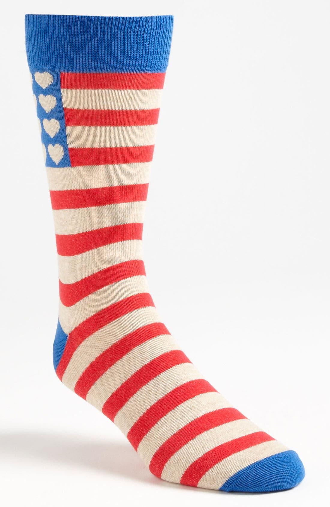 Alternate Image 1 Selected - Topman 'Valentines - America Sweetheart' Socks