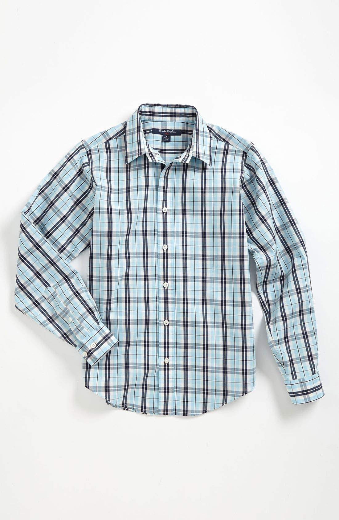 Alternate Image 1 Selected - Brooks Brothers Check Sport Shirt (Big Boys)