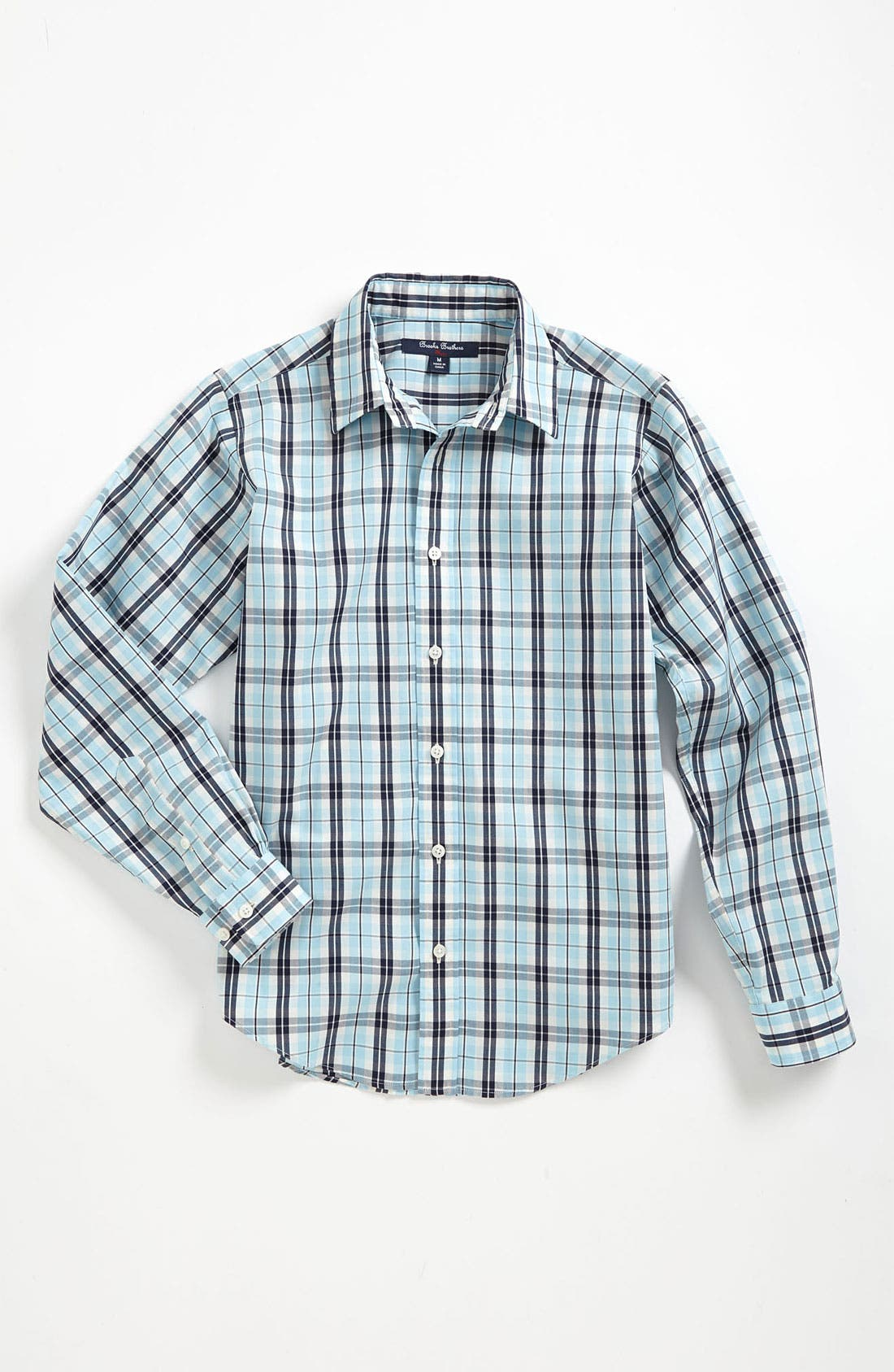 Main Image - Brooks Brothers Check Sport Shirt (Big Boys)