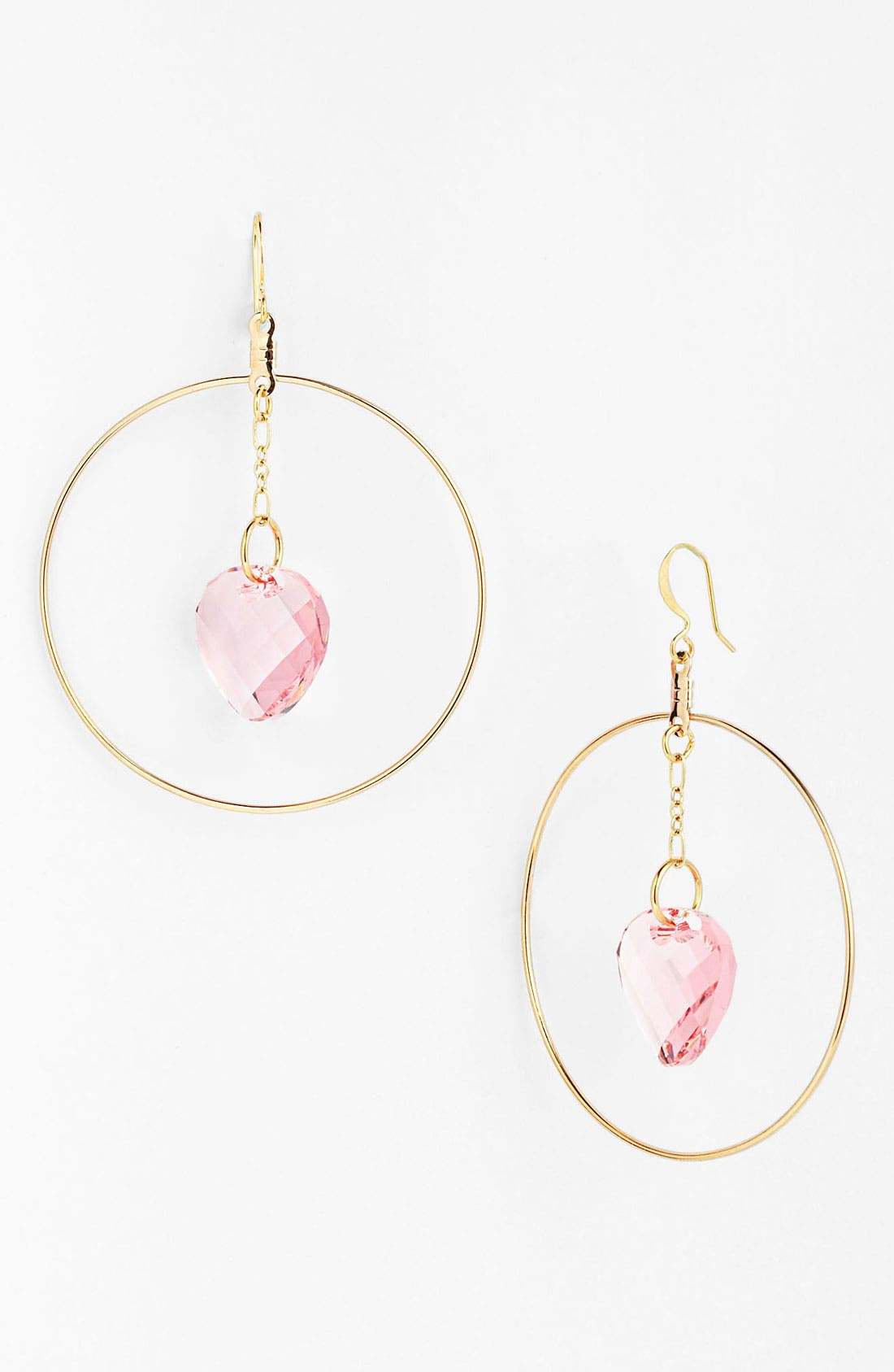 Alternate Image 1 Selected - Verdier Jewelry 'Pink Crystal' Hoop Earrings