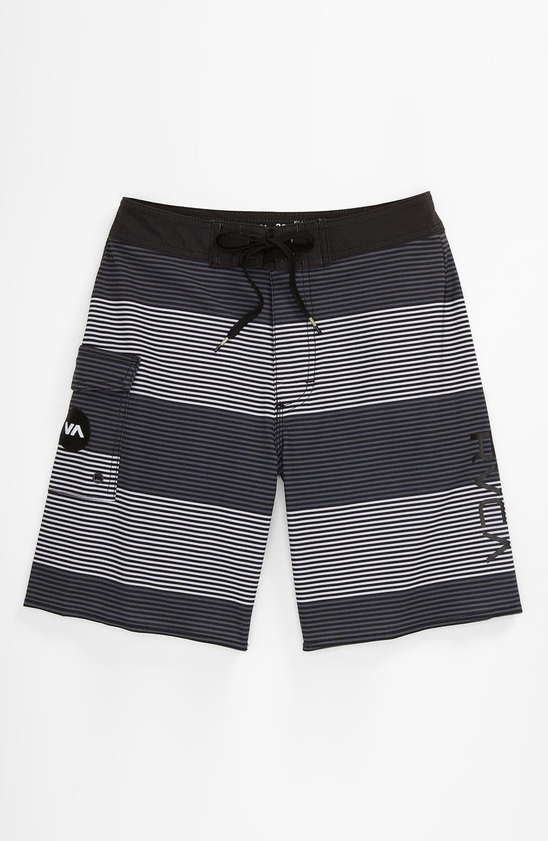 Main Image - RVCA 'Civil Stripe' Board Shorts (Big Boys)