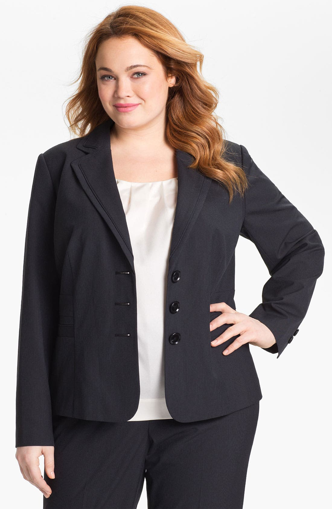 Alternate Image 1 Selected - Sejour 'Boardwalk' Suit Jacket (Plus Size)