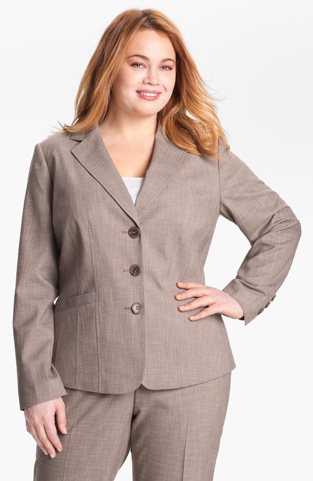 Main Image - Sejour 'Metric' Suit Jacket (Plus Size)
