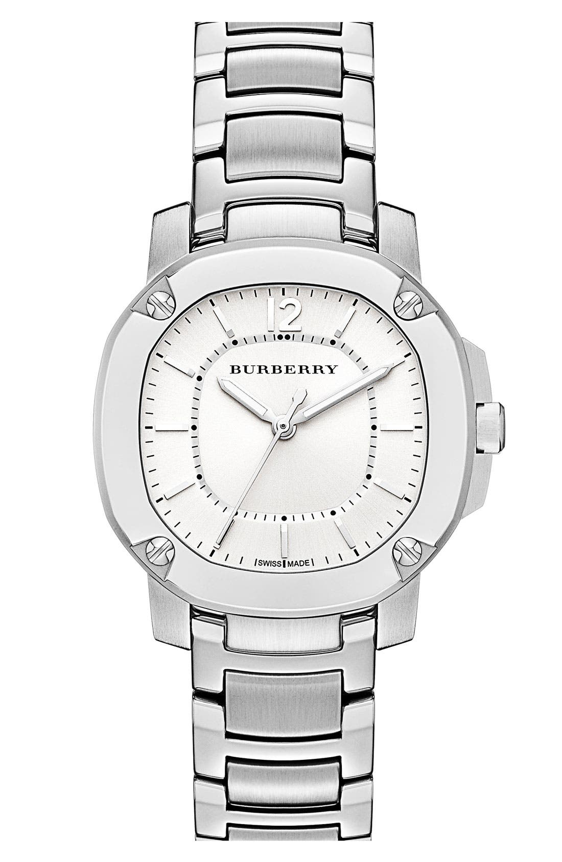 Main Image - Burberry The Britain Bracelet Watch, 34mm
